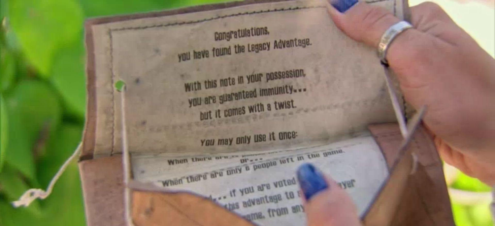 Survivor Game Changers Legacy Advantage