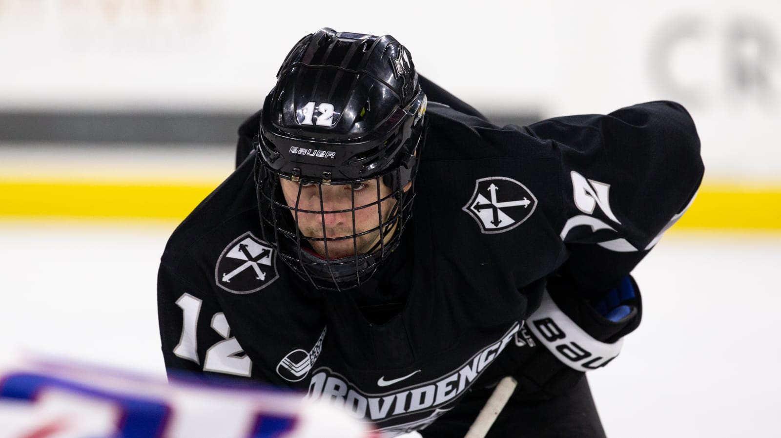 Jack Dugan #12 of the Providence College Friars.
