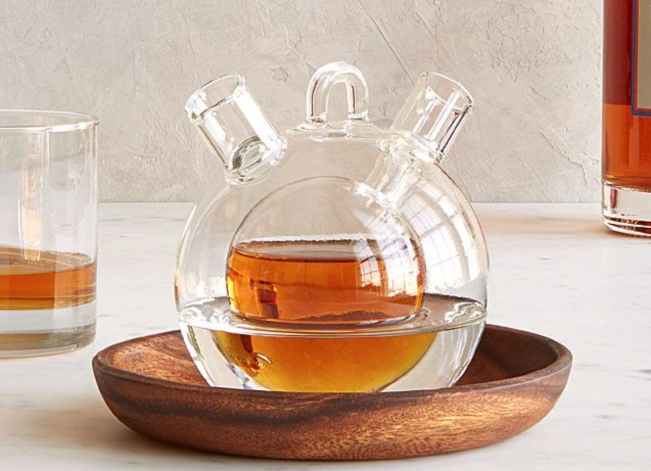 Discover Uncommon Goods' Personal Whiskey & Water Decanter.