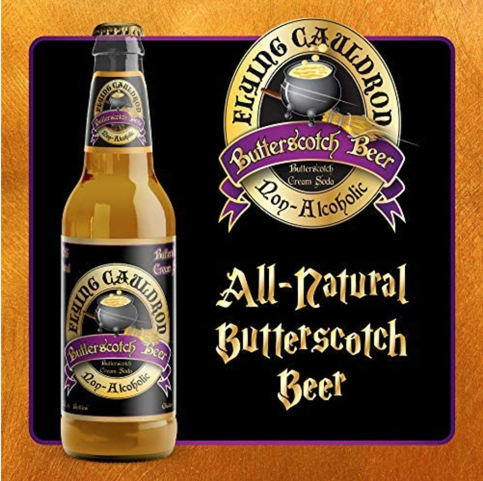 Soda National's Flying Cauldron Butterscotch Beer available on Amazon.