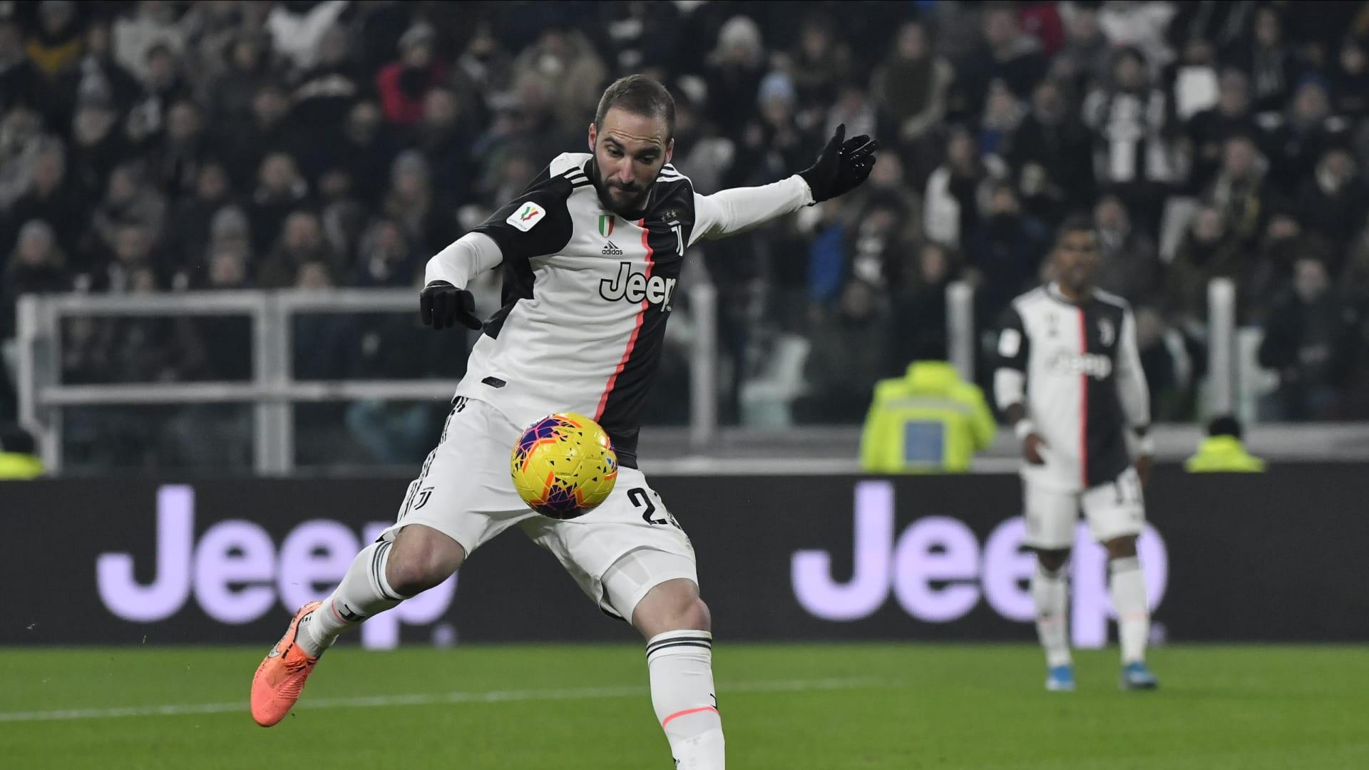 Juventus will miss Gonzalo Higuain against Milan next week