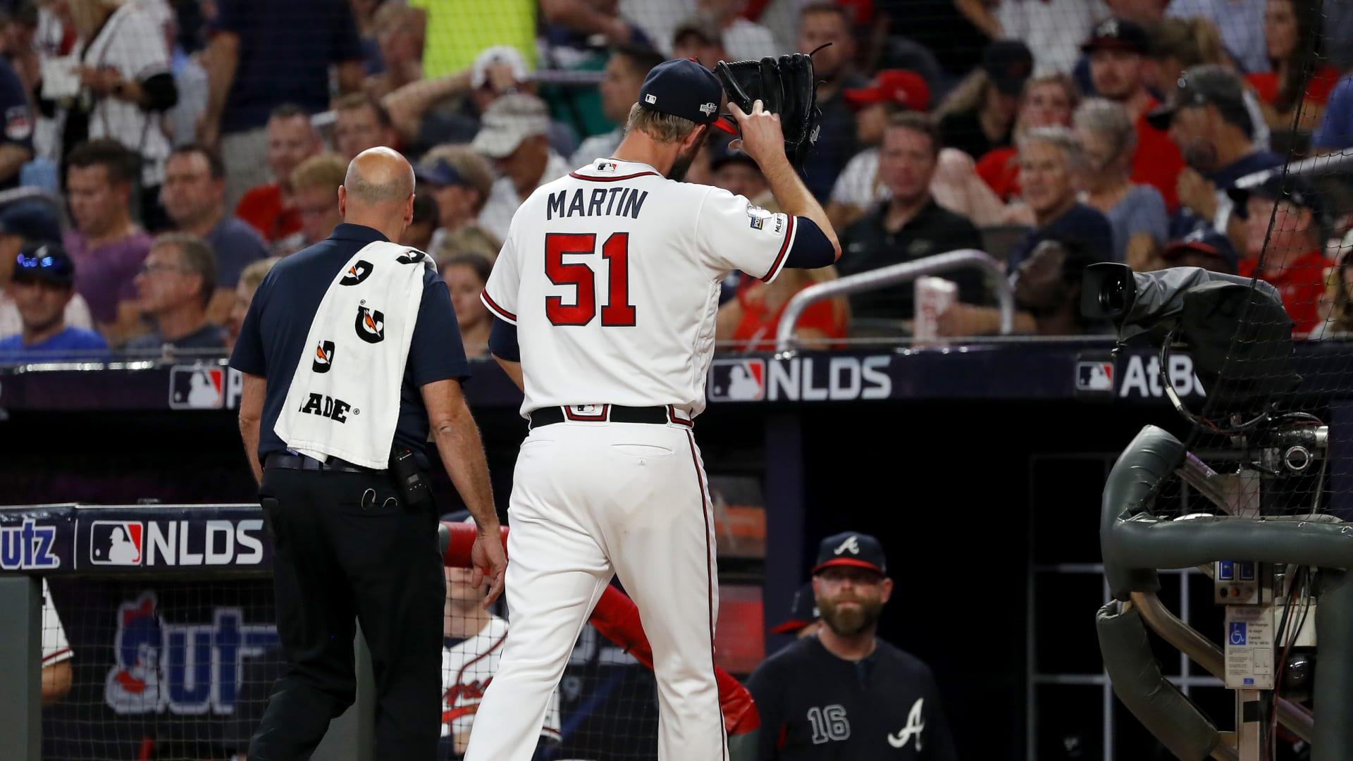 Atlanta Braves reliever Chris Martin injures oblique in Game 1Atlanta Braves
