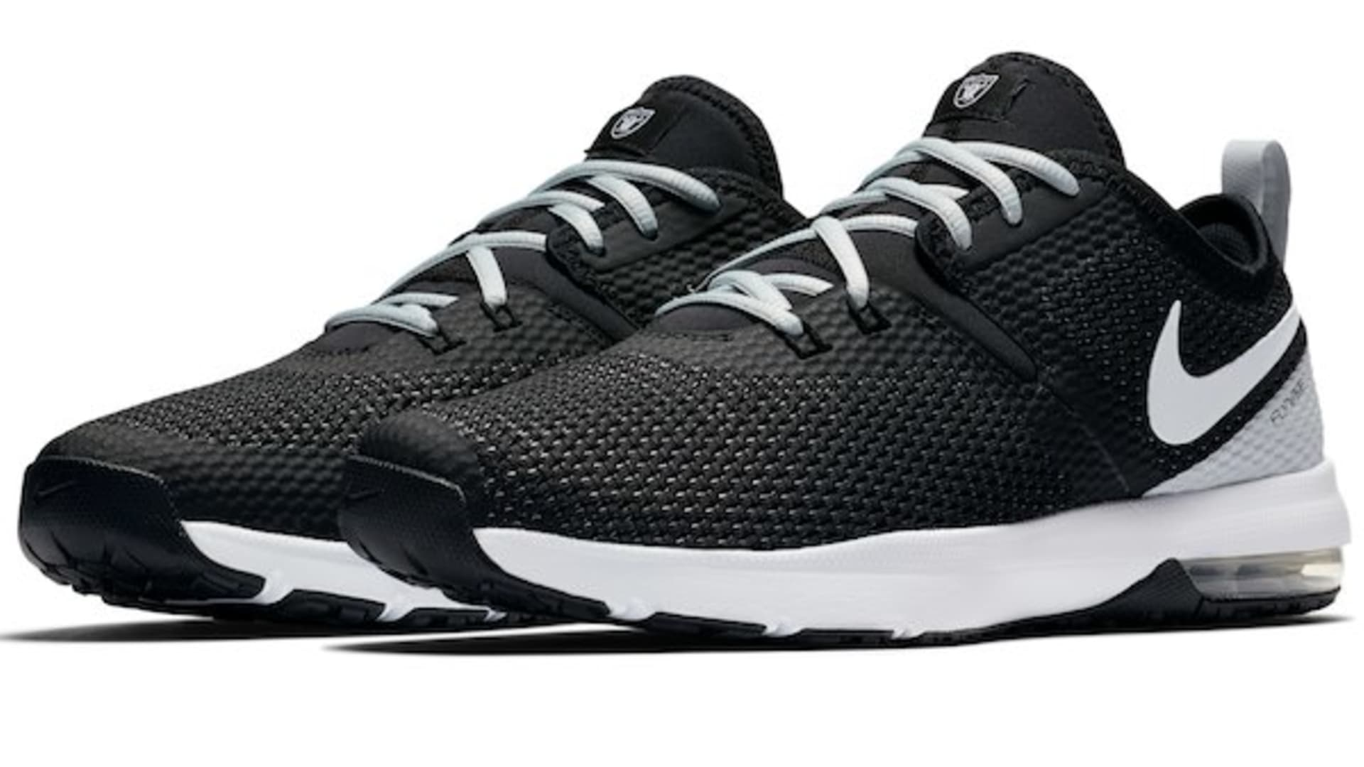 Check out these Oakland Raiders Nike Air Max Typha 2 shoes