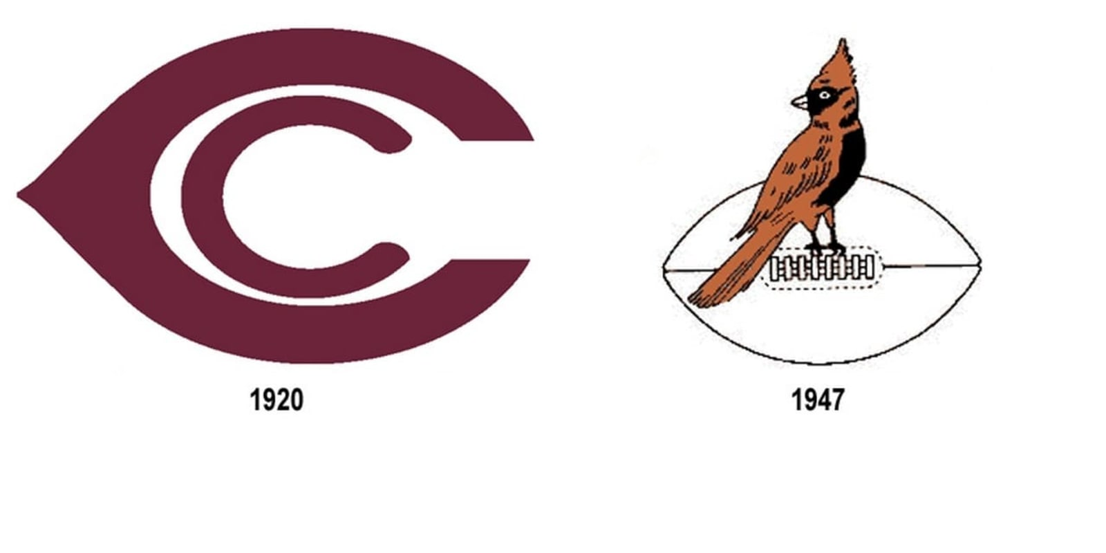 Chicago Cardinals primary and secondary logos