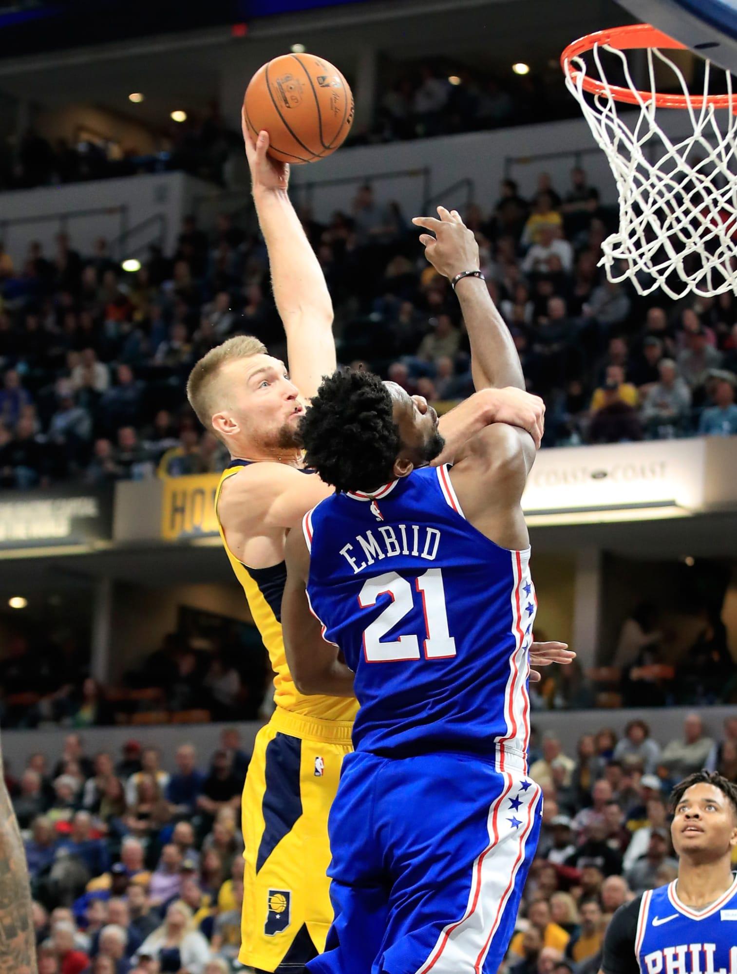 Indiana Pacers season highlight: Domantas Sabonis dunks on Joel Embiid