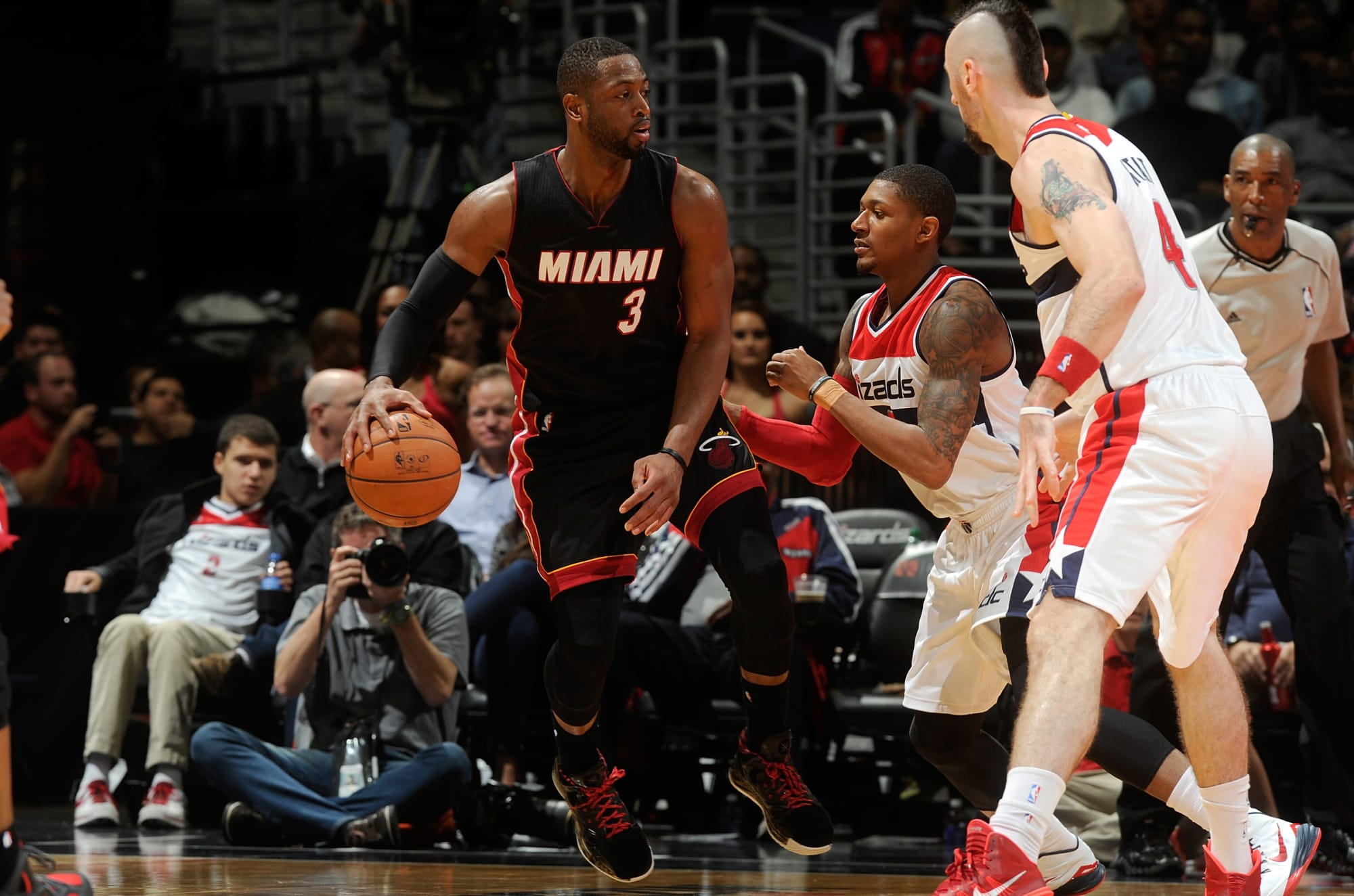 Miami Heat champs Dwyane Wade & Ray Allen helped shape Bradley Beal