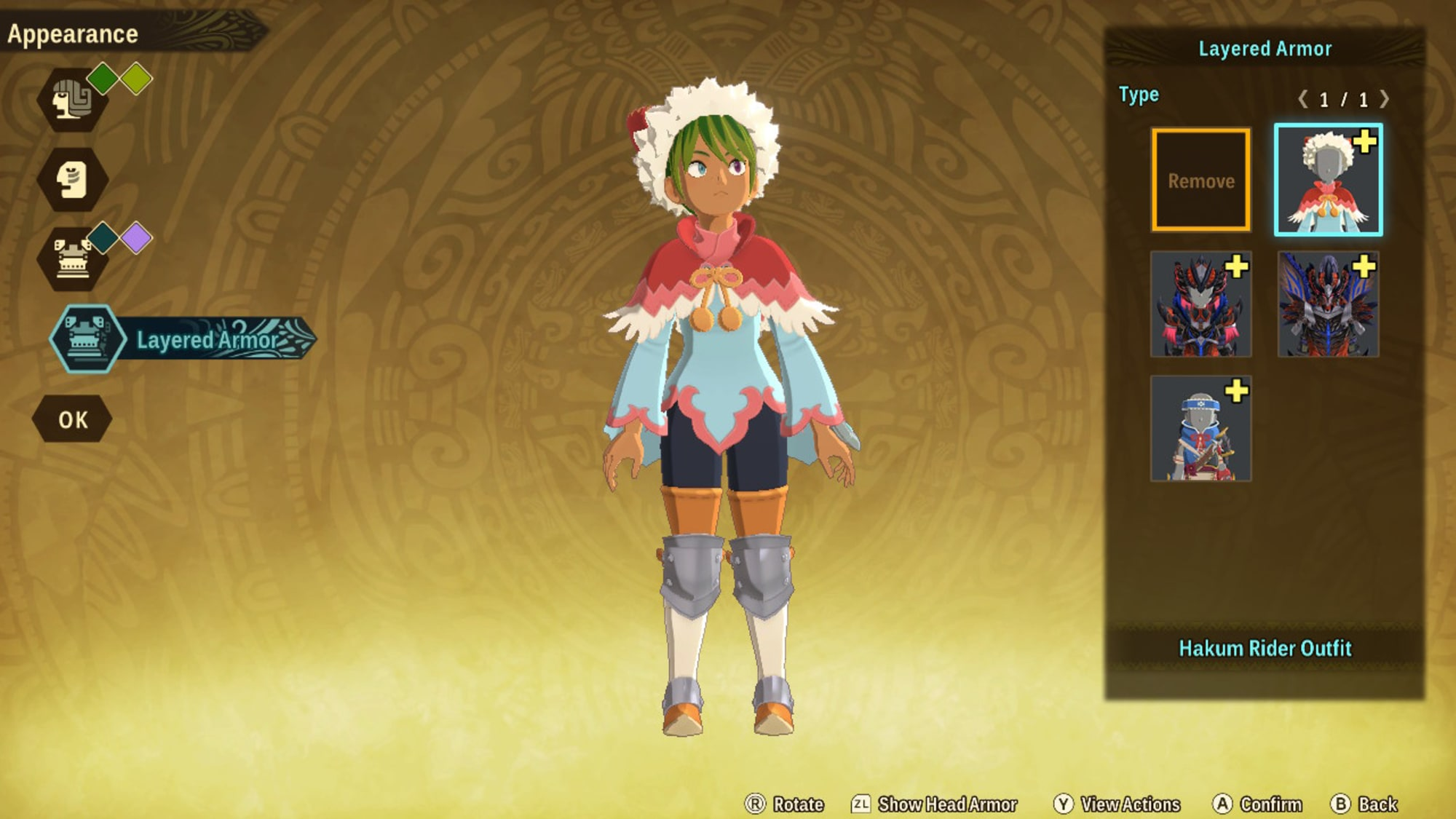 Every Monster Hunter Stories 2 Monstie Hairstyle (with name)
