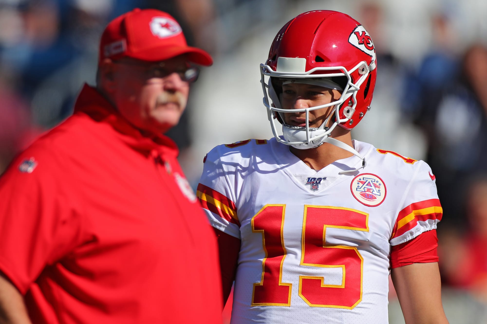 Patrick Mahomes checked to make sure Andy Reid was staying with Chiefs
