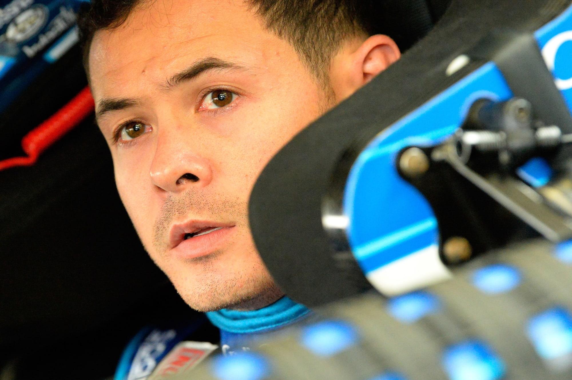 Kyle Larson wins first race since NASCAR suspension, firing