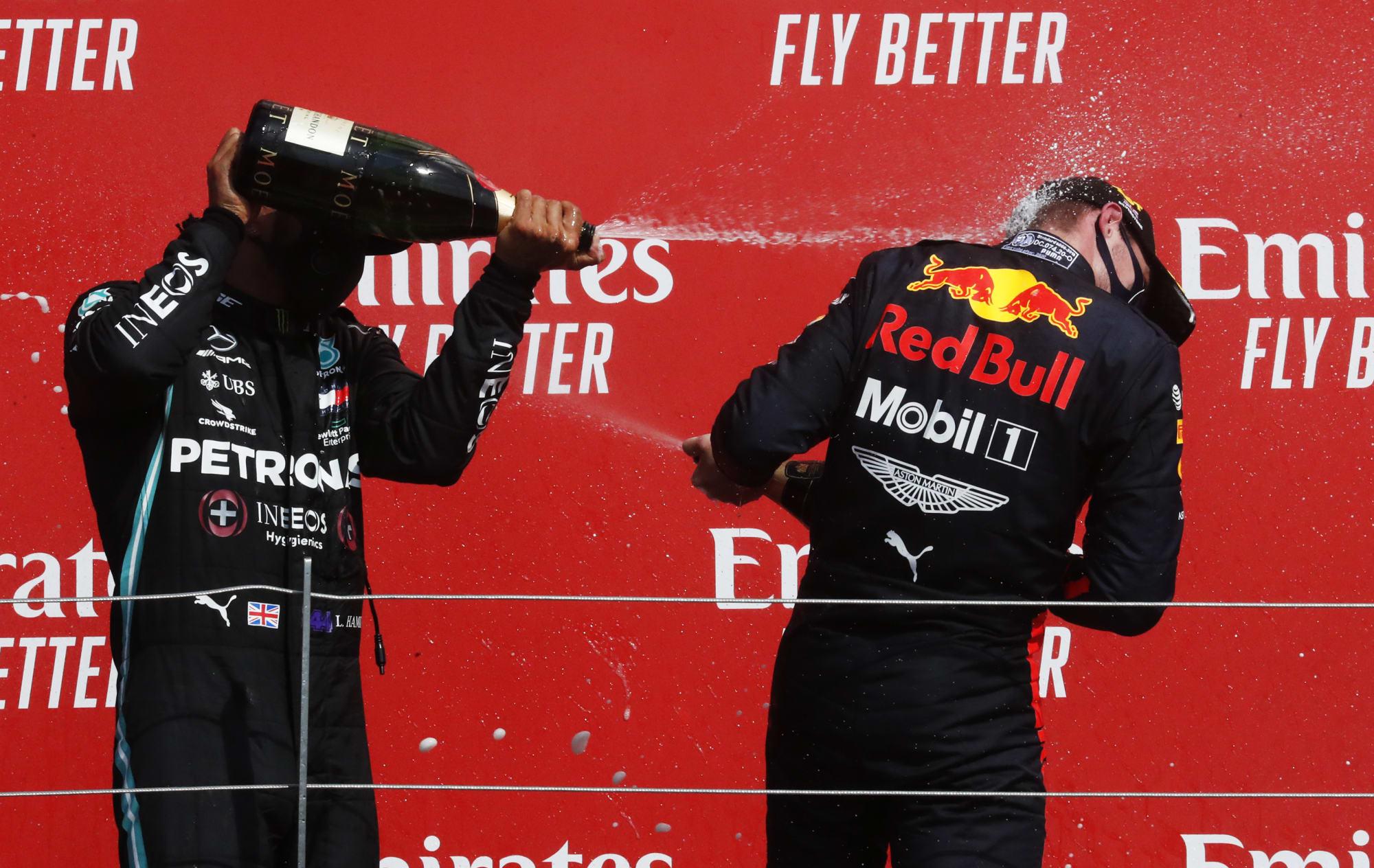 Formula 1: Lewis Hamilton took Max Verstappen's 1st place trophy