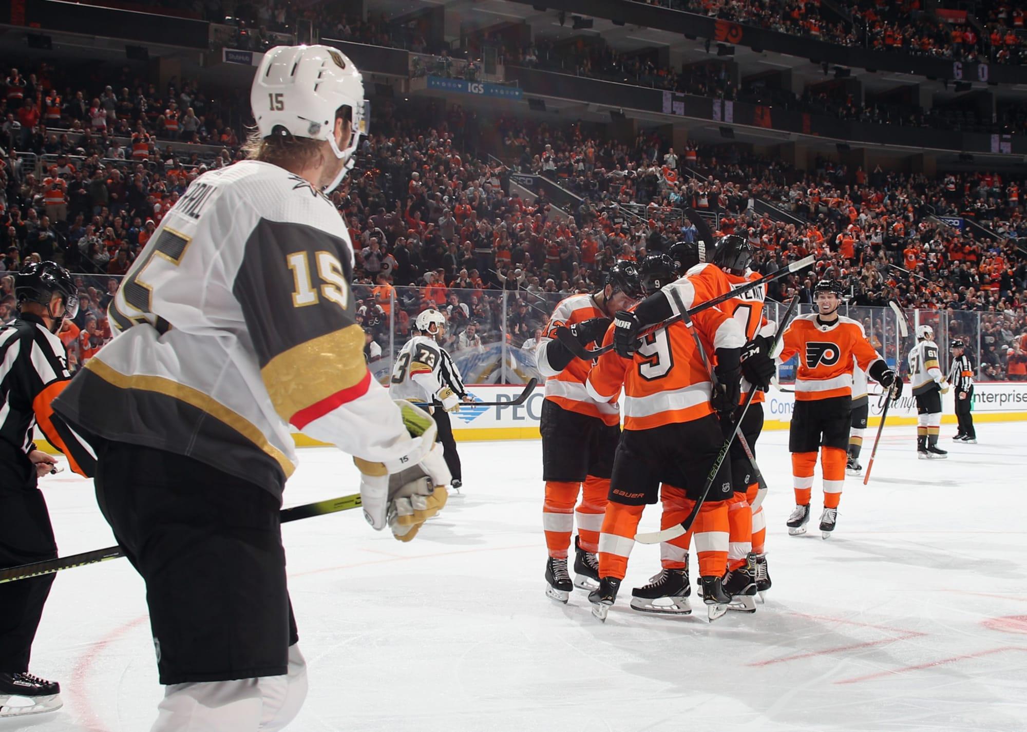 Philadelphia Flyers 6 2 Win Vs Vegas