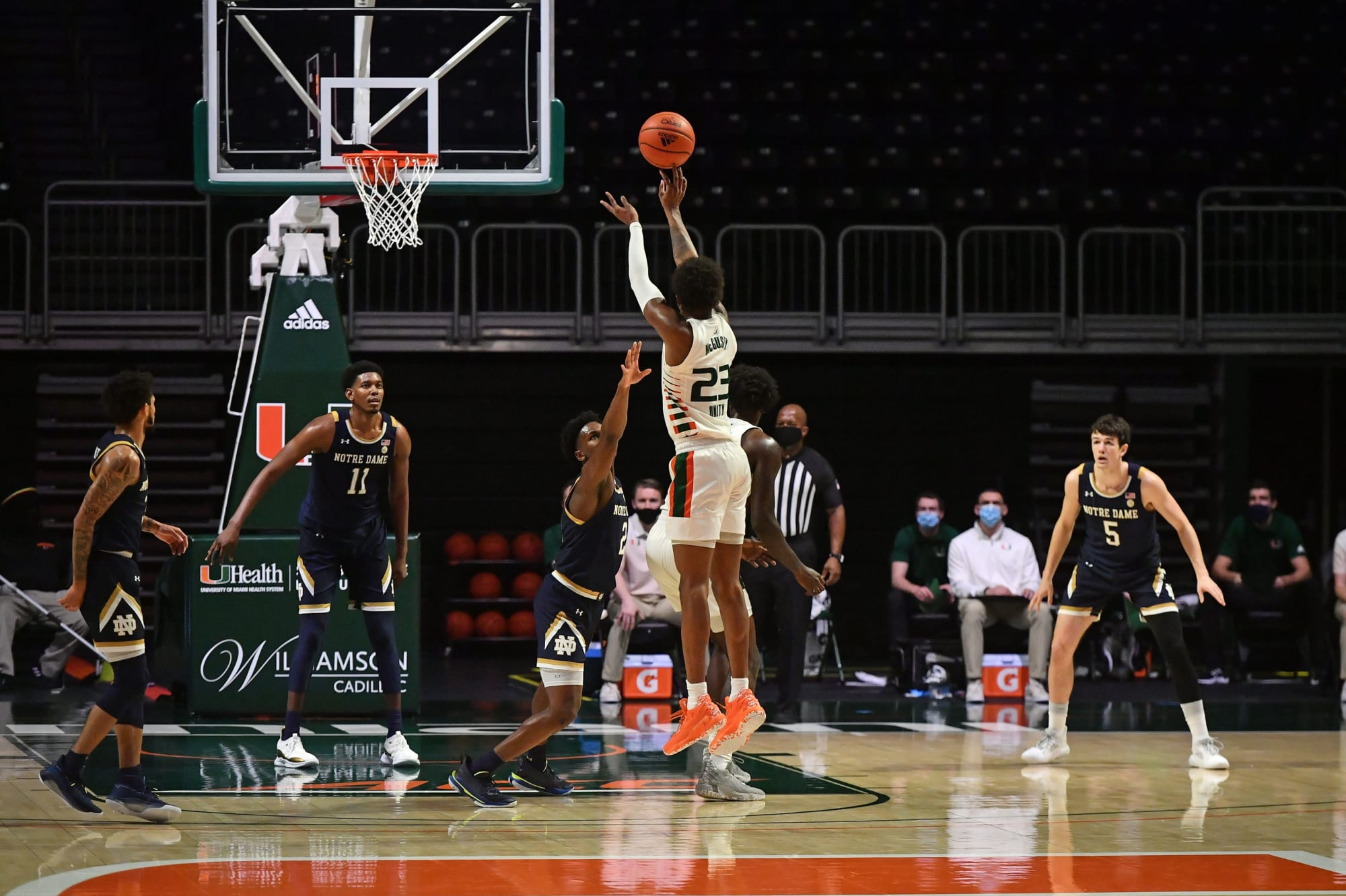 Miami basketball hampered by injuries blown out by Notre Dame