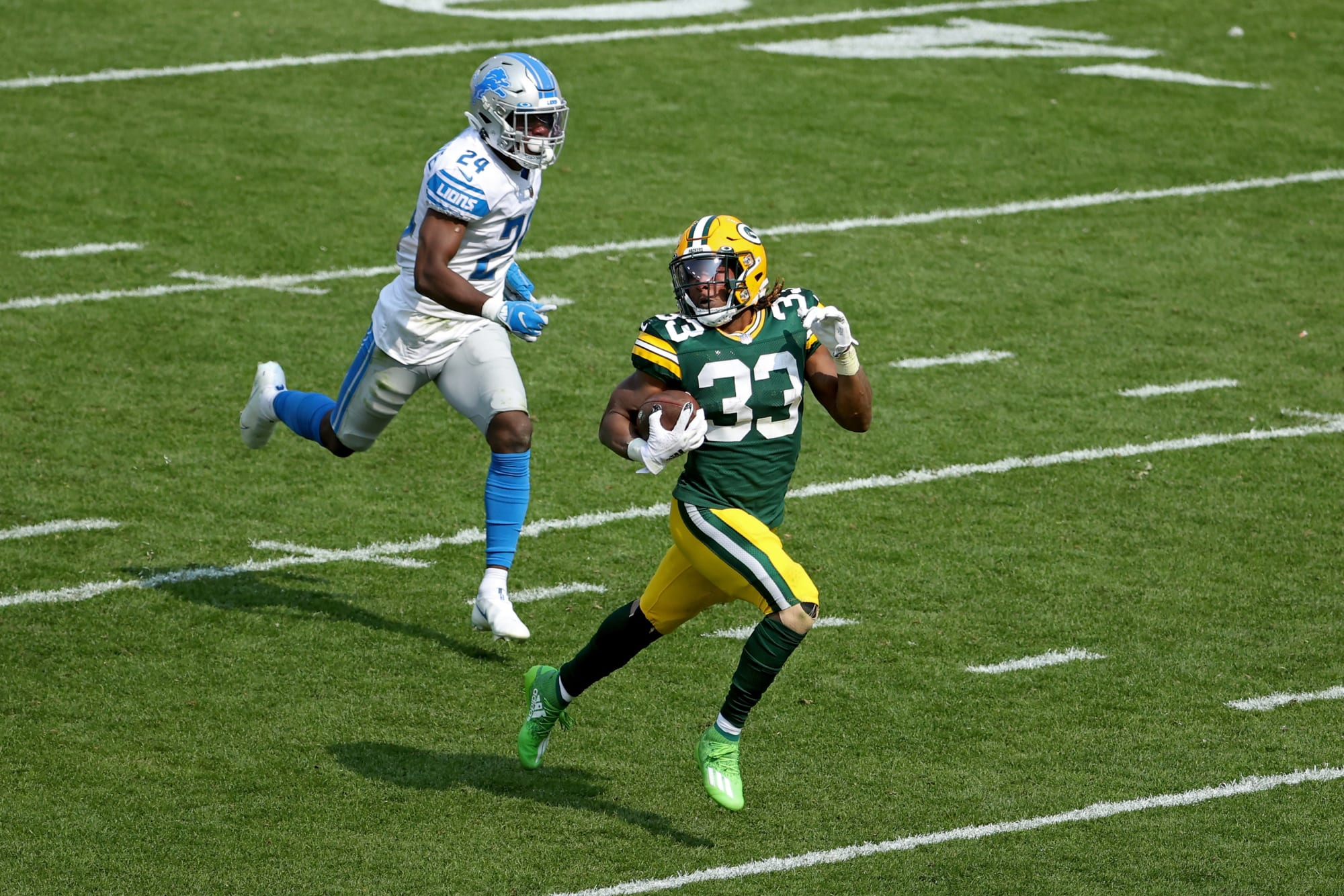 Highlights of Green Bay Packers' offensive explosion vs Detroit Lions