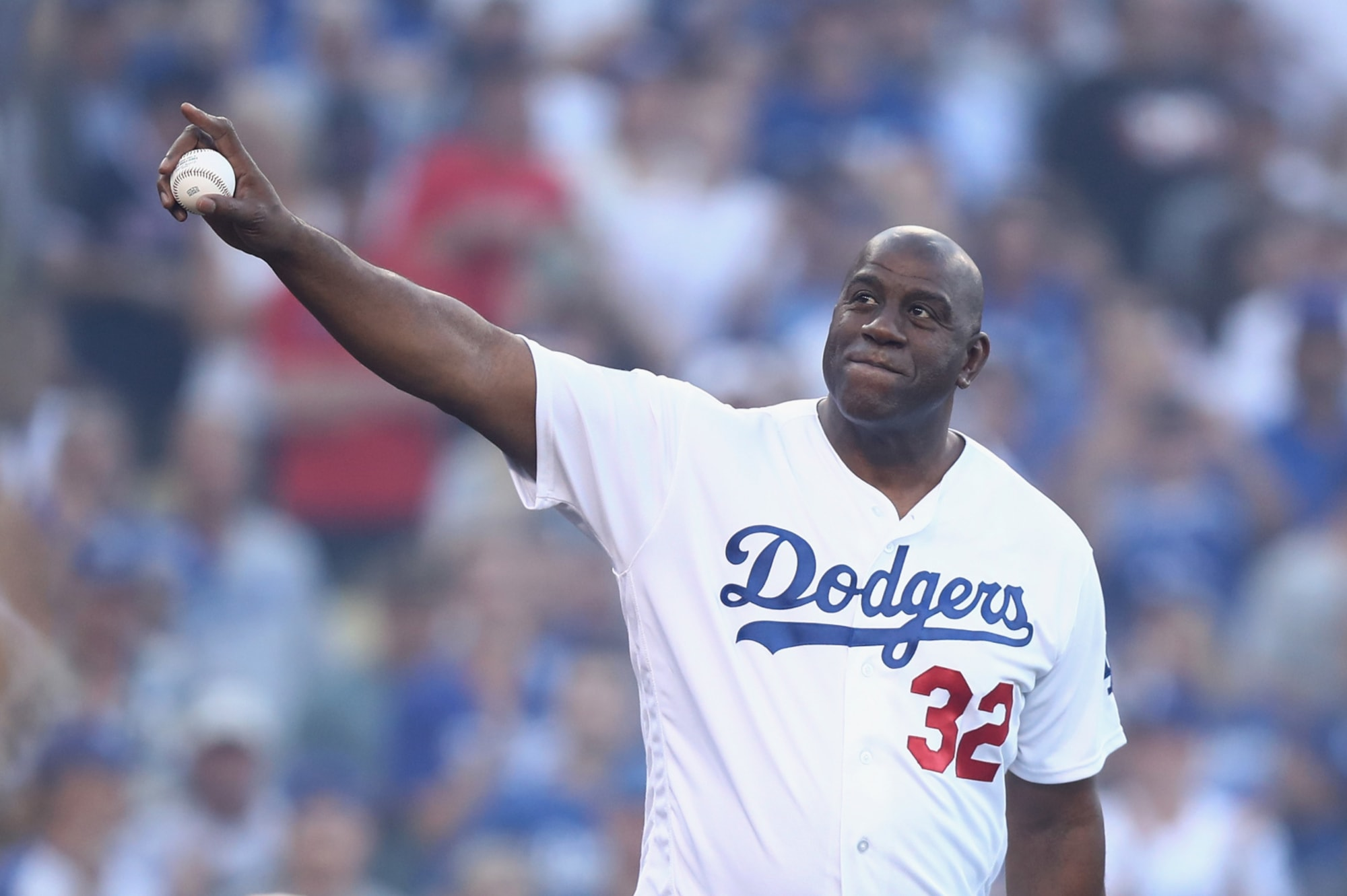 Magic Johnson buys Dodgers on this date in 2012