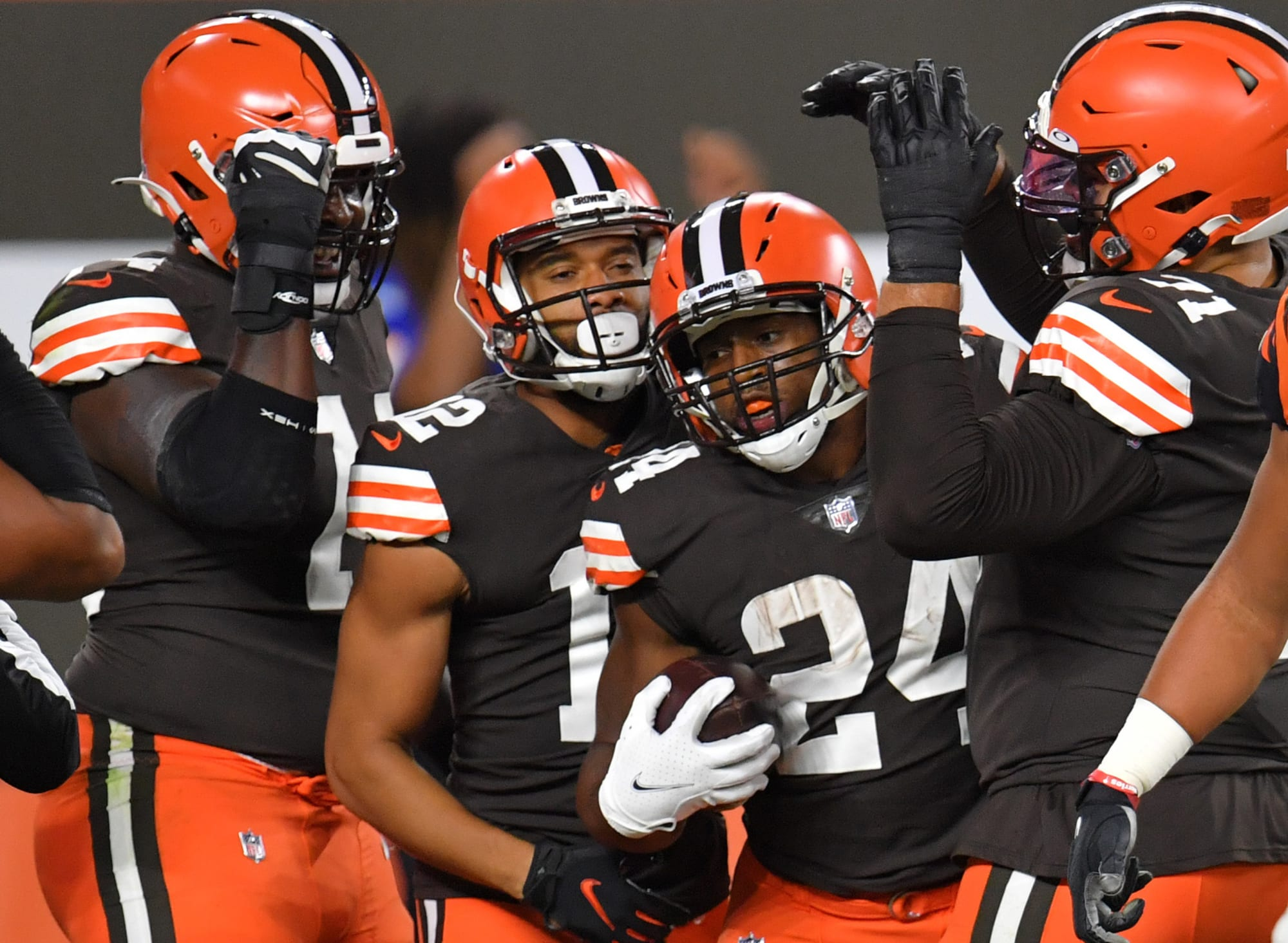 Nick Chubb scored two touchdowns on the night