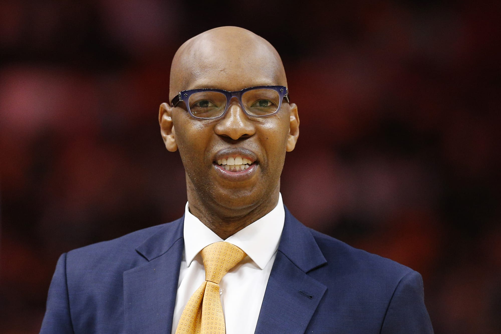 Sam Cassell stands on the sidelines during his time as an NBA assistant coach.
