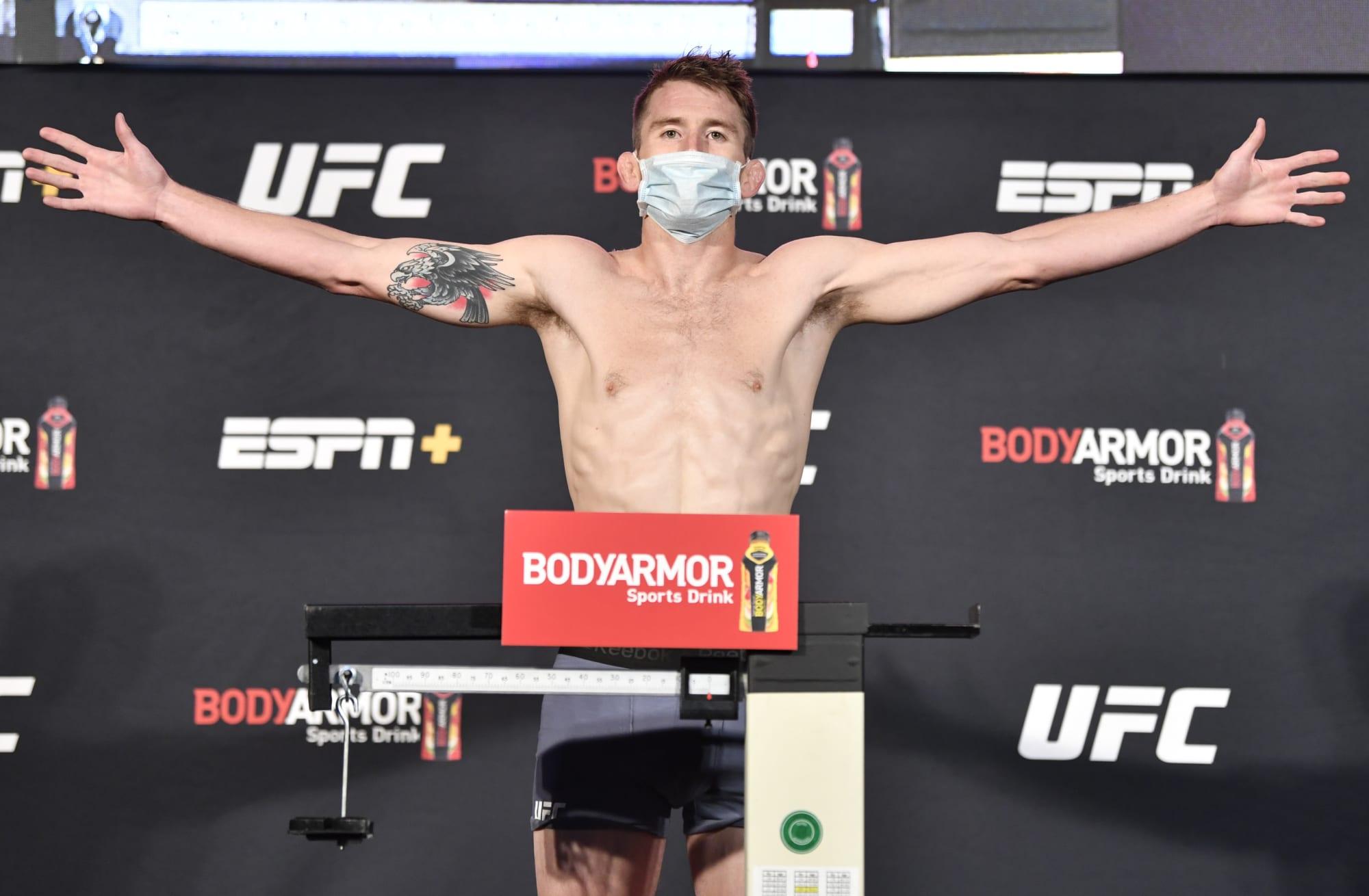UFC Vegas 32: Cory Sandhagen vs. T.J. Dillashaw weigh-in results