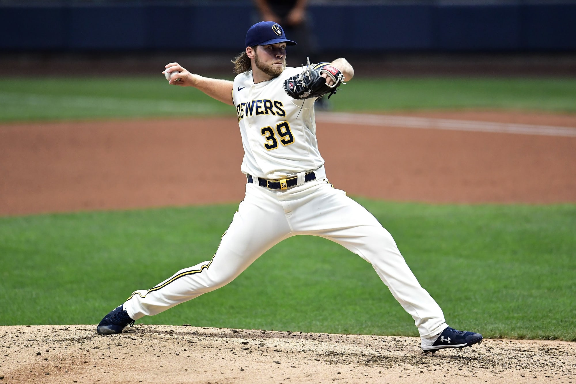 Corbin Burnes sets MLB record for most strikeouts without a walk to start season