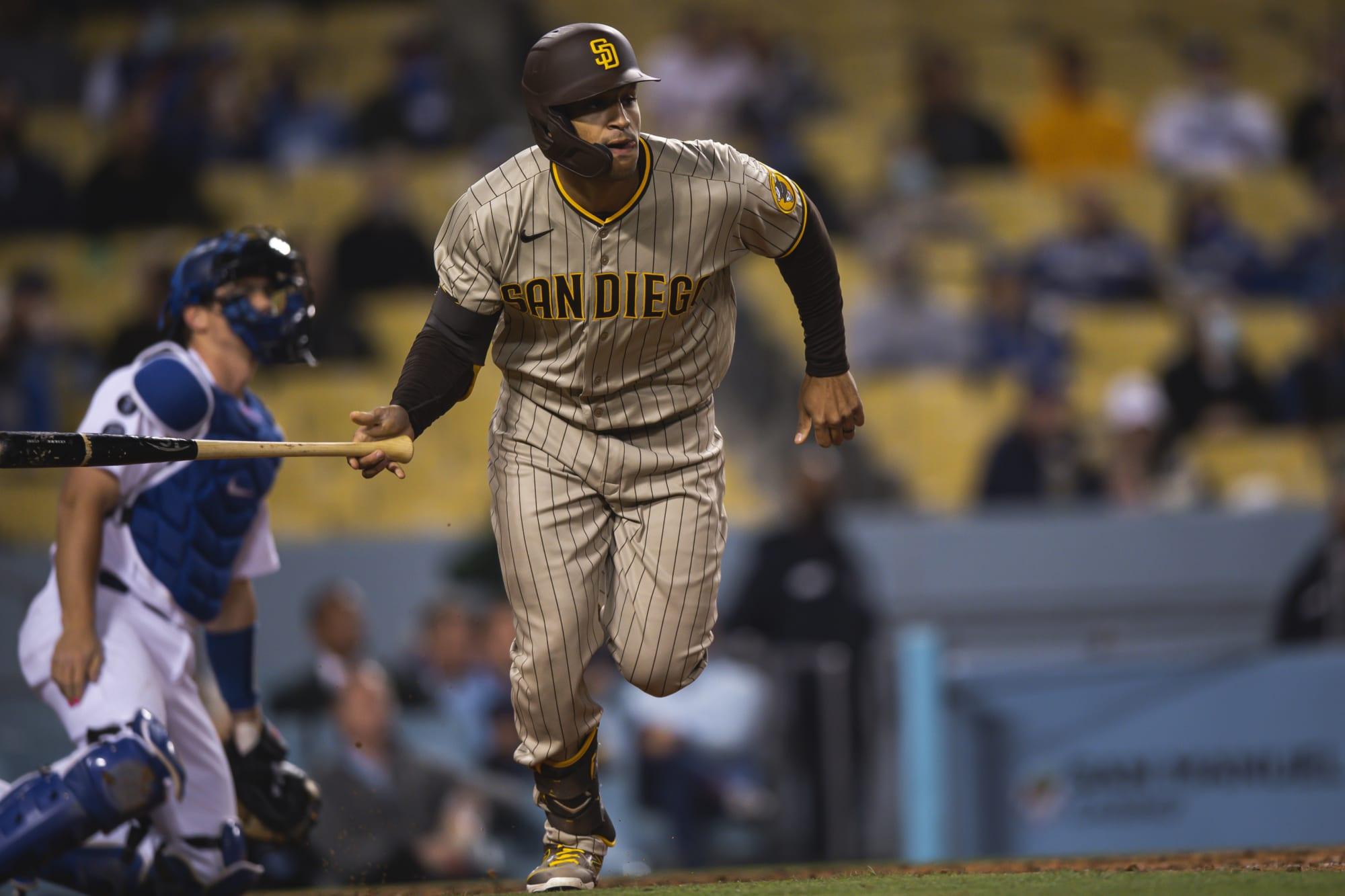 Padres' Trent Grisham debuts an actual 'bat flick' against Dodgers (Video)