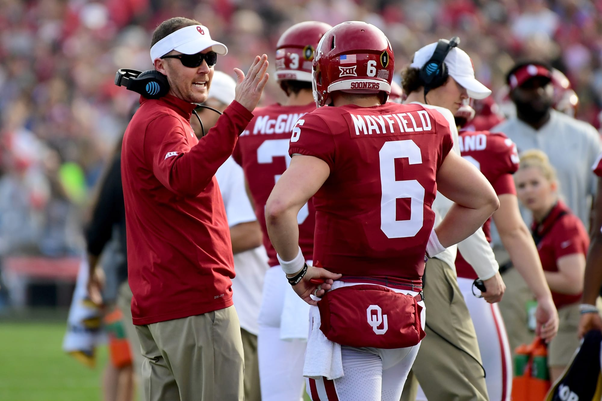 Oklahoma football: Lincoln Riley trolls former Sooner Baker Mayfield