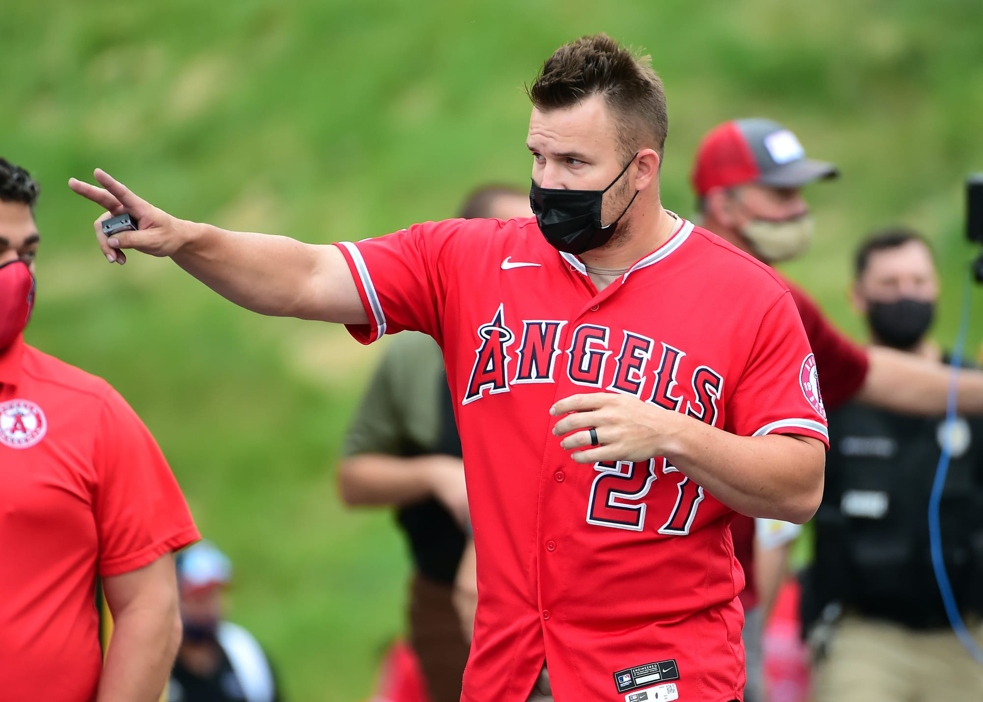 Mike Trout already recruiting Max Scherzer to the Angels
