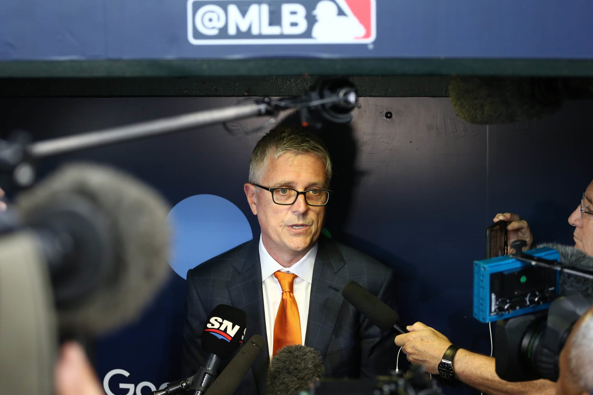 Fired GM Jeff Luhnow can't even say the Astros cheated without cracking (Video)