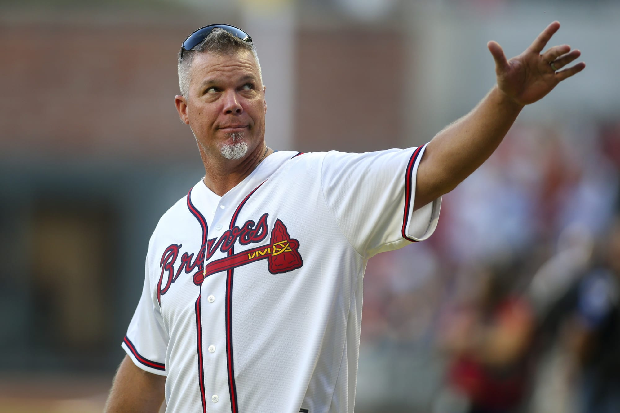 Chipper Jones shares picture of jersey in return to Braves dugout: Just like old times