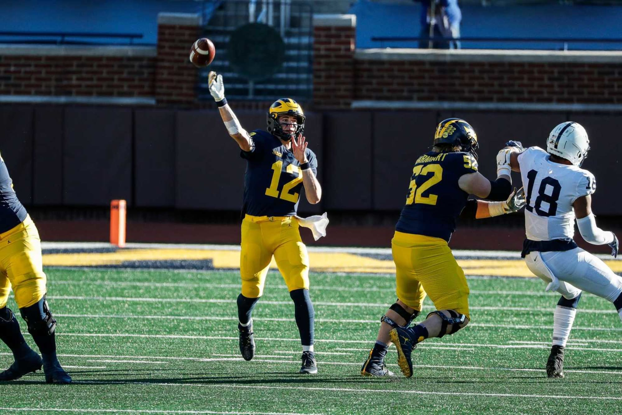 Michigan football coach seemingly puts an end to any quarterback controversy