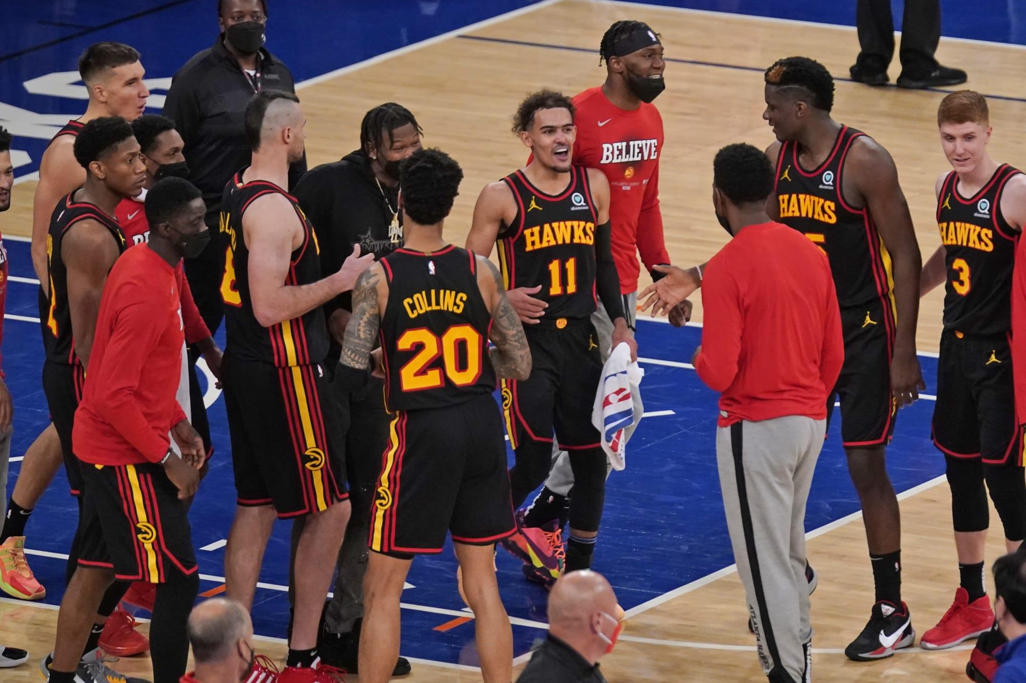 NBA <b>Twitter</b> lost its mind over Trae Young's game-winning shot vs. Knicks thumbnail