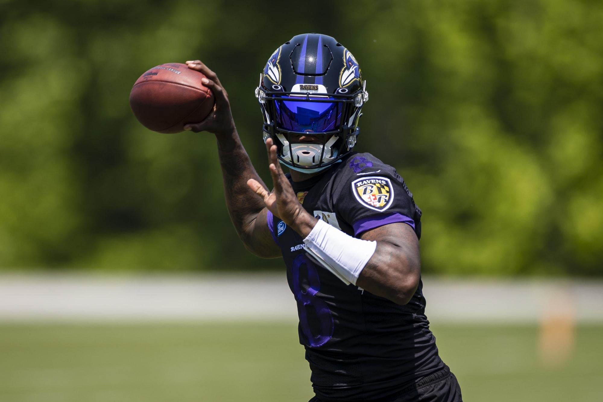 The Ravens aren't letting media film Lamar Jackson throws anymore