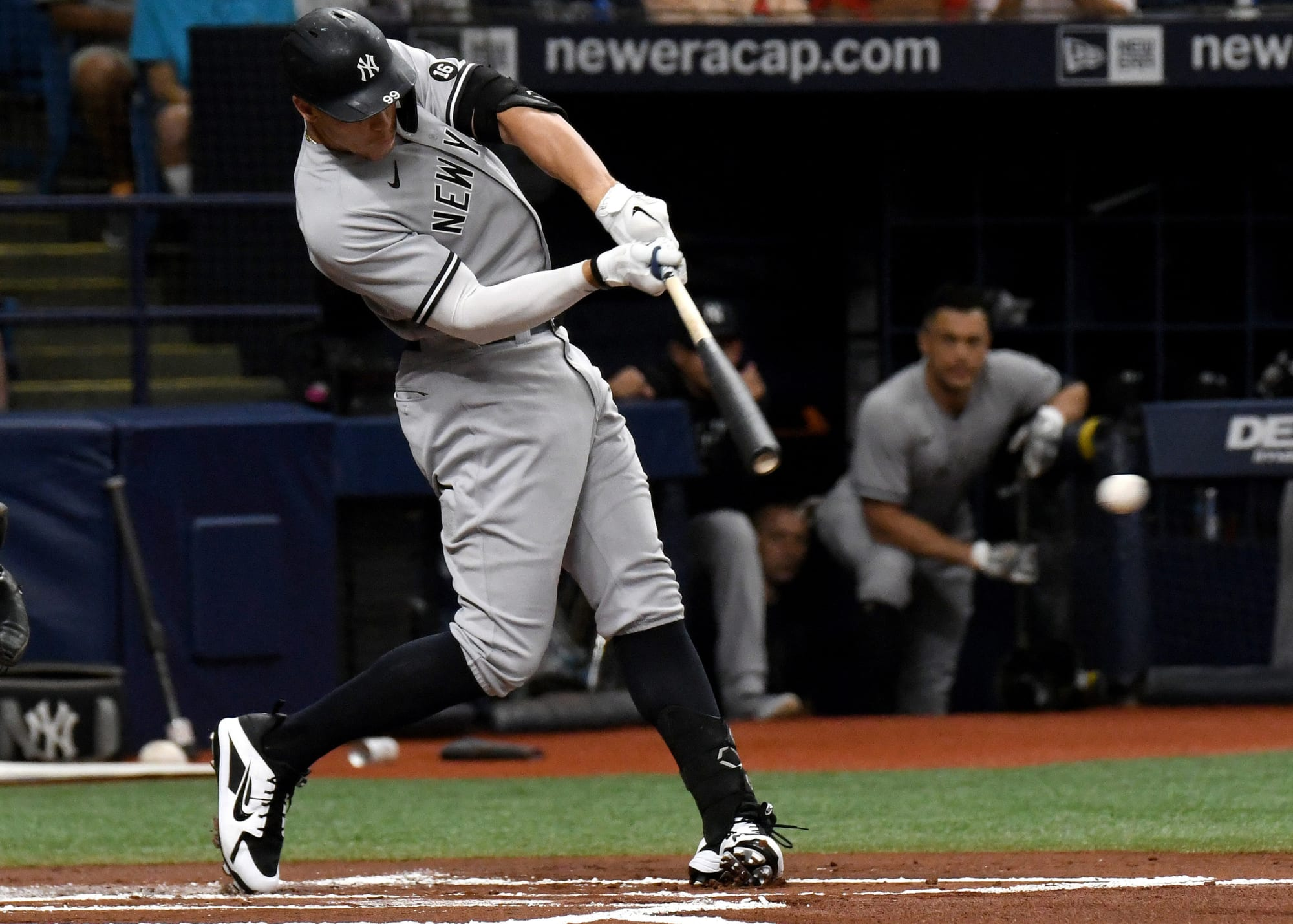 Here's why Aaron Judge was removed from the Yankees line-up