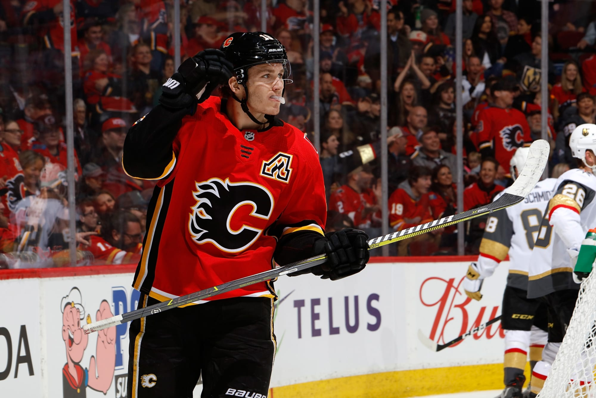 Calgary Flames Matthew Tkachuk Scores First Hat Trick In Win Over Vegas