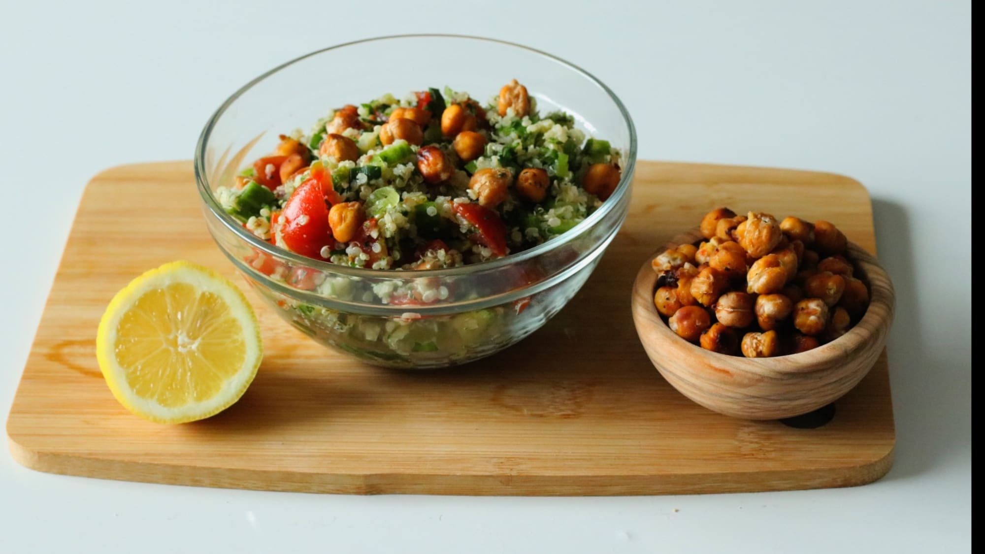 Katie Lee's Crispy Chickpea and Quinoa Tabbouleh Salad, the most versatile salad recipe