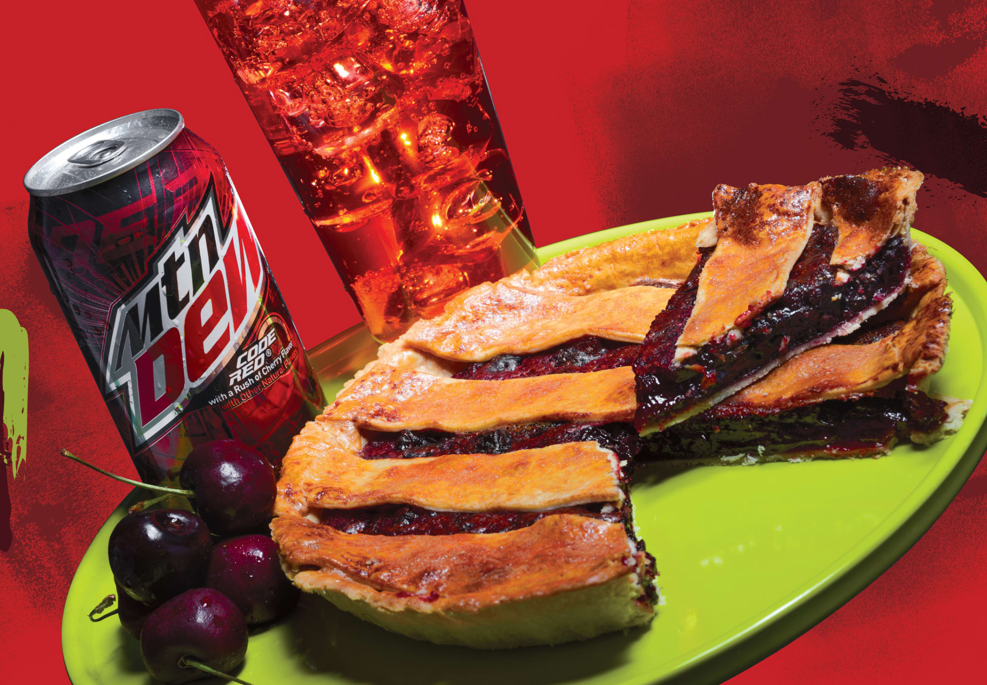 MTN DEW Code Red Cherry Pie is tastier than grandma's pie recipe