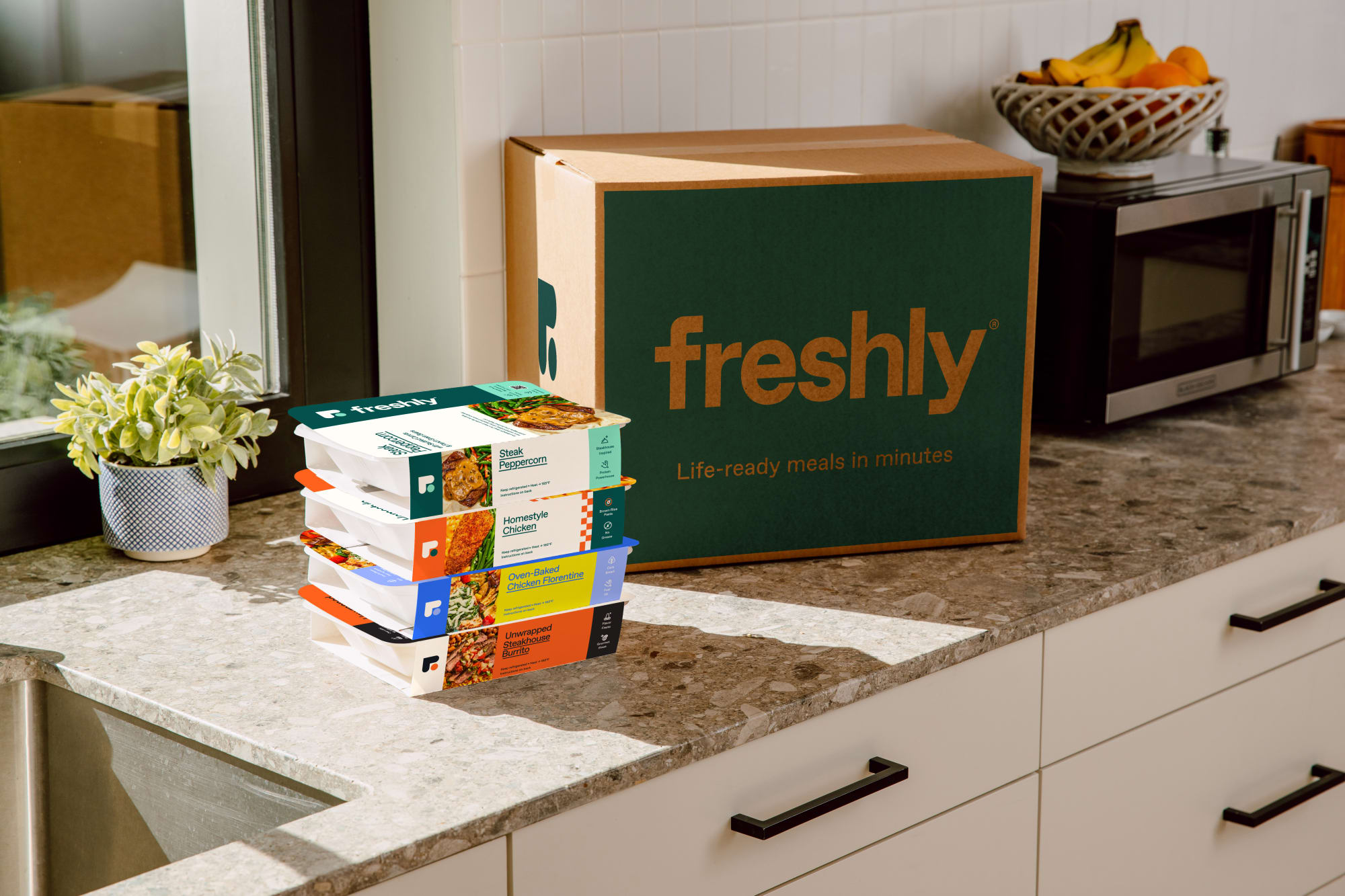 Freshly's pre-made lunch makes working from home easier