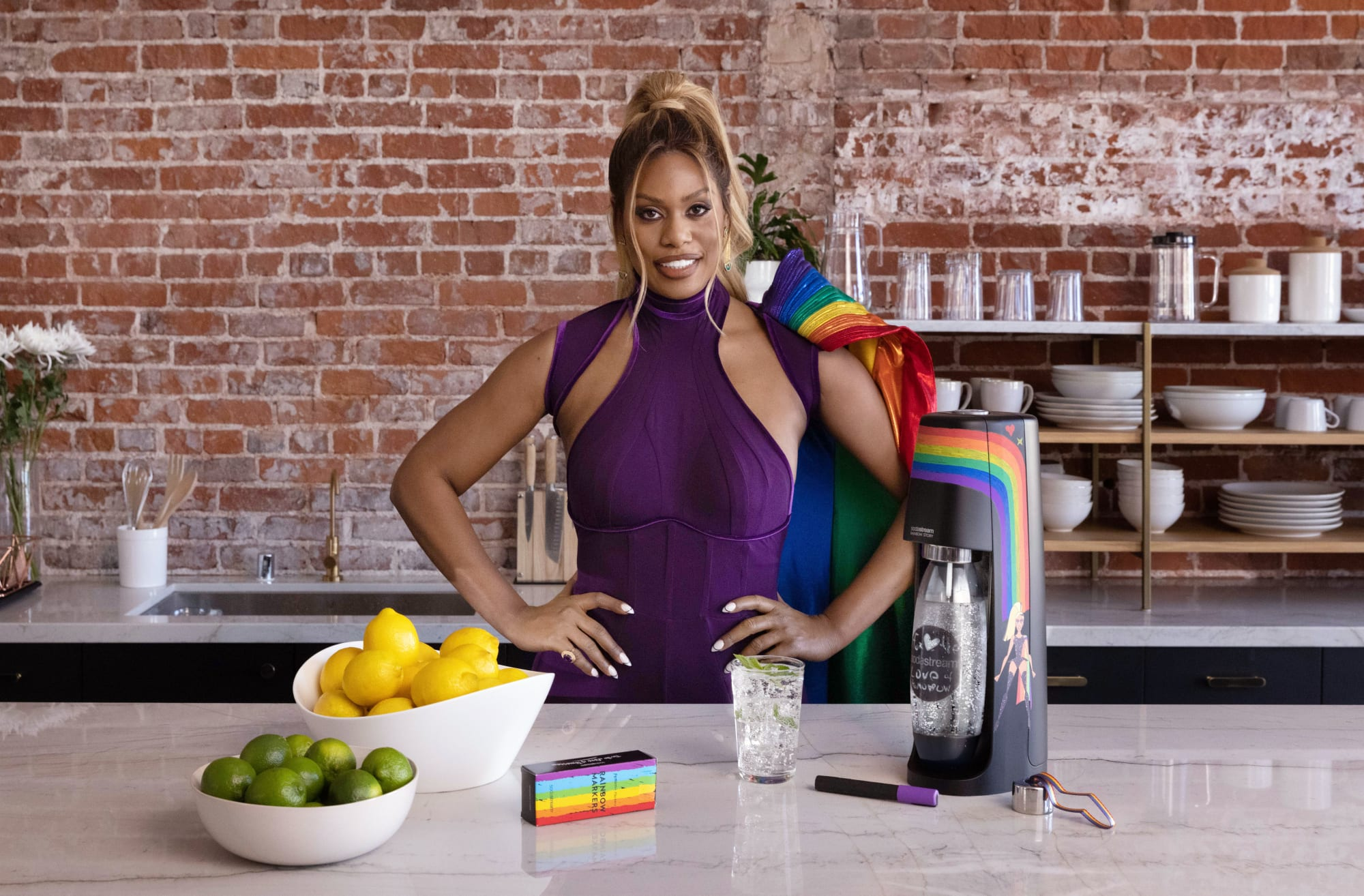 Laverne Cox and SodaStream make a difference one rainbow at a time