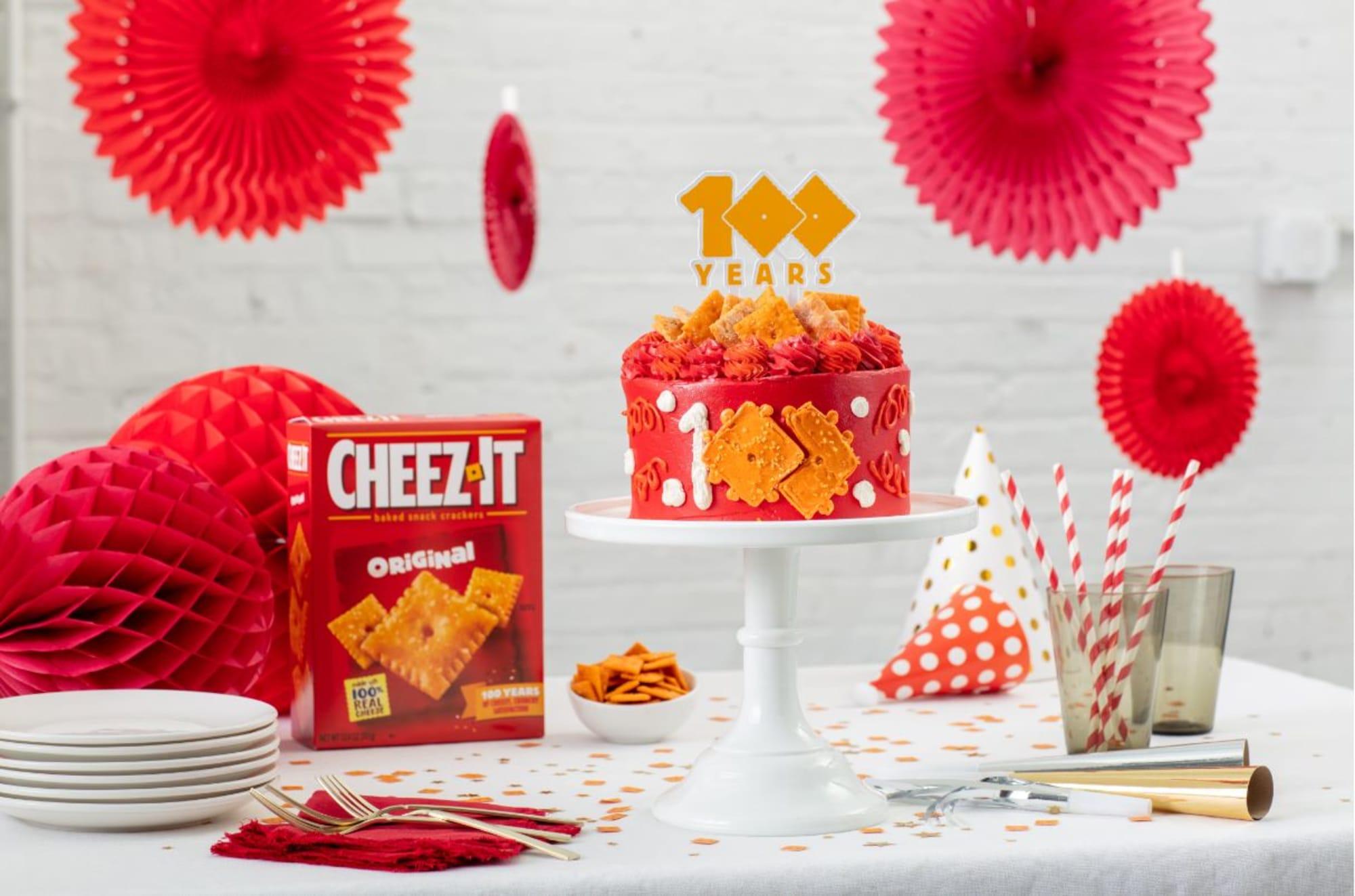 The Cheez-It Cheez-Itennial Cake is a delicious Stephanie Izard creation