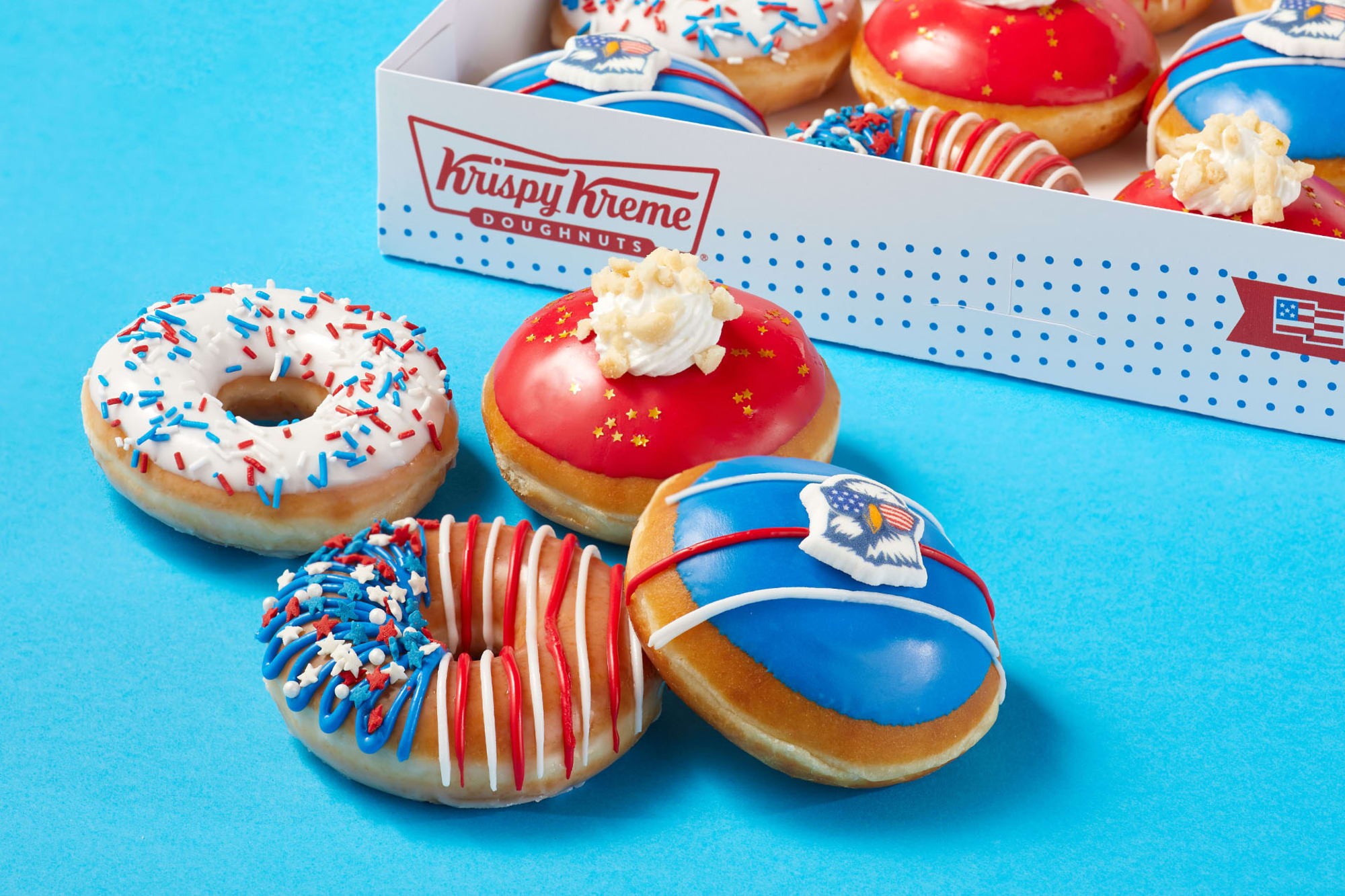Go Fourth and celebrate with Krispy Kreme Fourth of July collection
