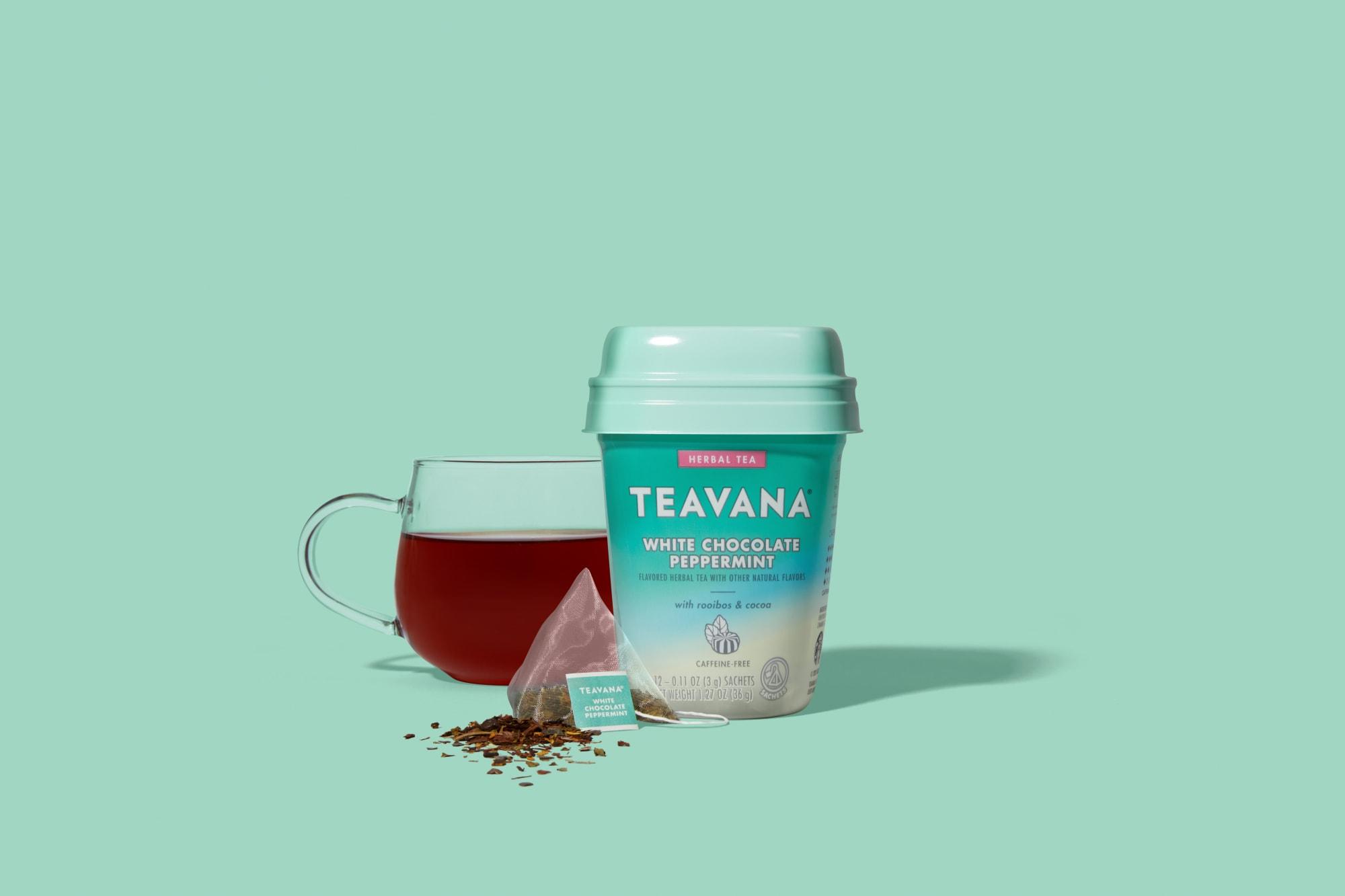 Teavana's White Chocolate Peppermint tea celebrates the holidays everyday