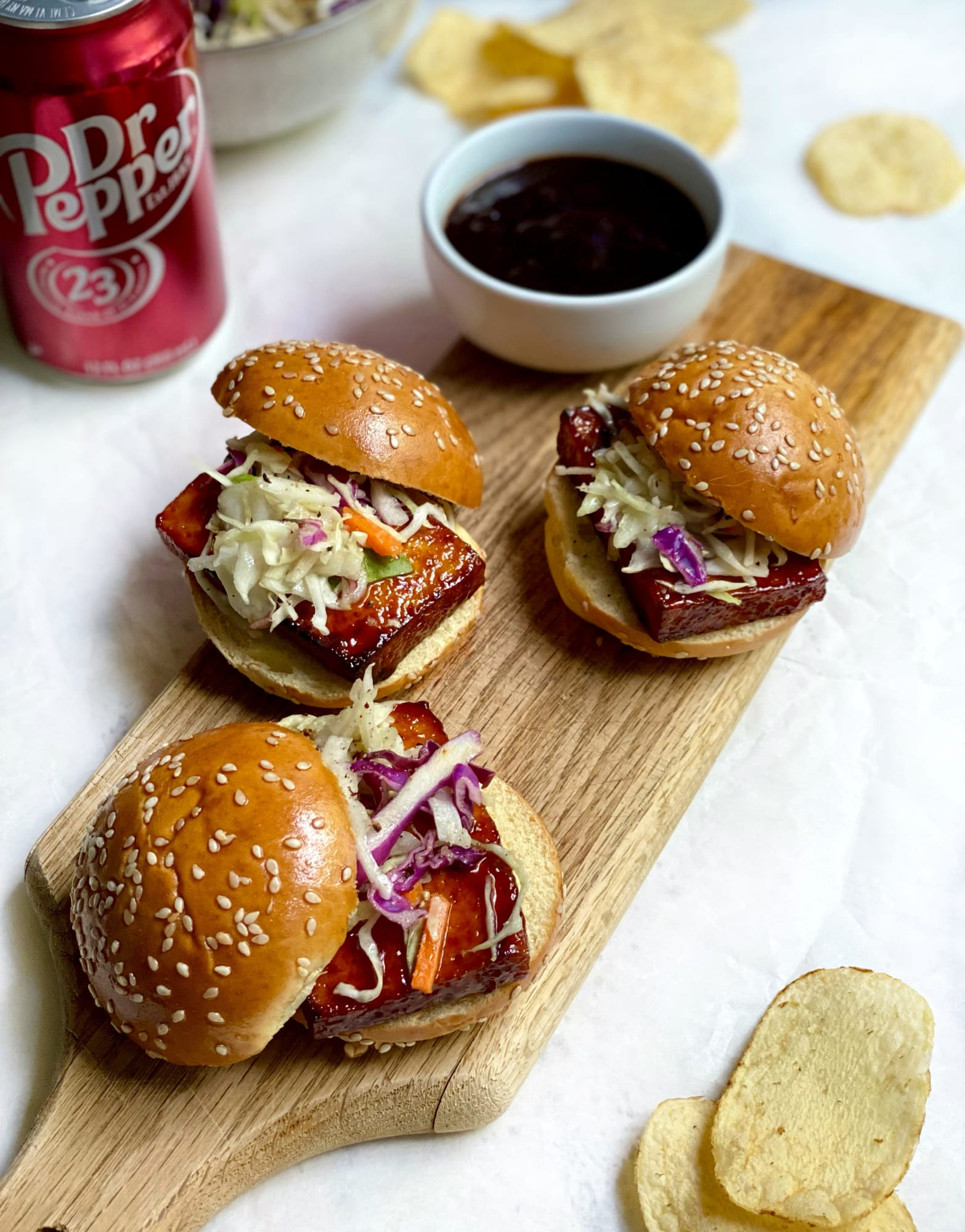 Fall in love with tofu thanks to this Glazed Tofu Sliders recipe
