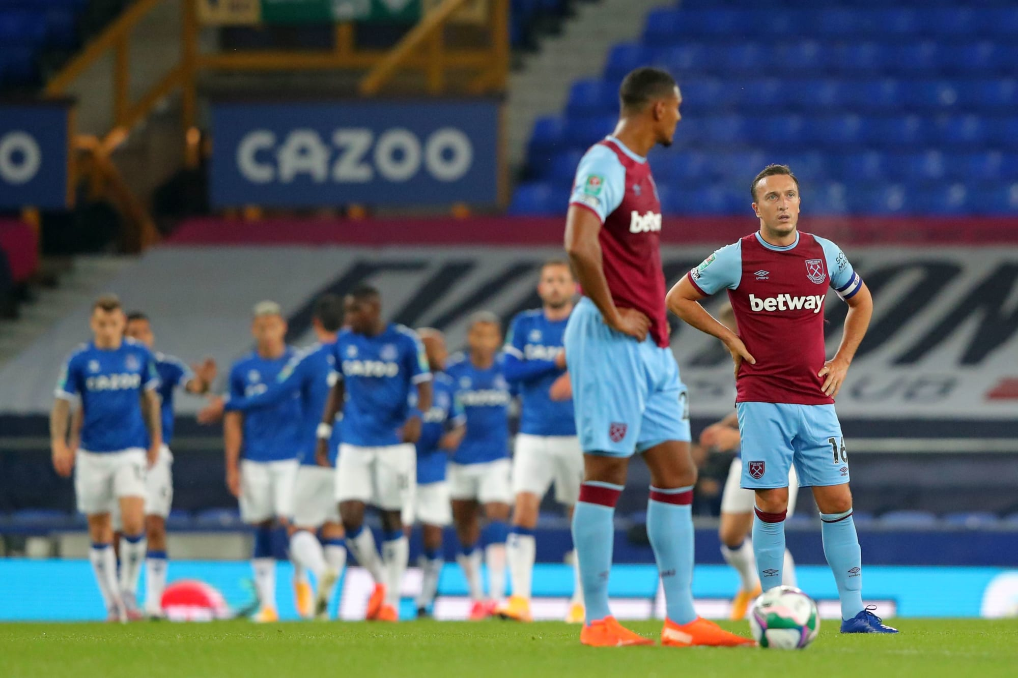 West Ham crash out of Carabao Cup at the hands of Everton