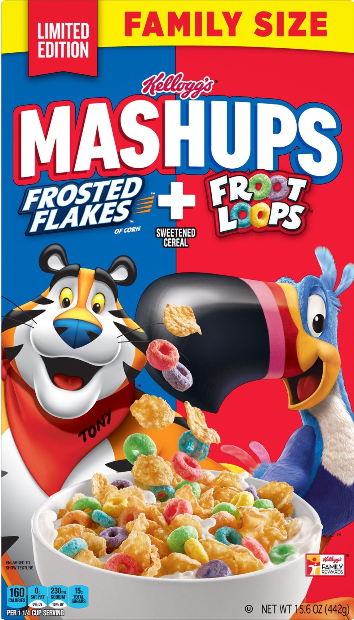 Kellogg's new Frosted Flakes and Froot Loops Mashups cereal is our childhood dream