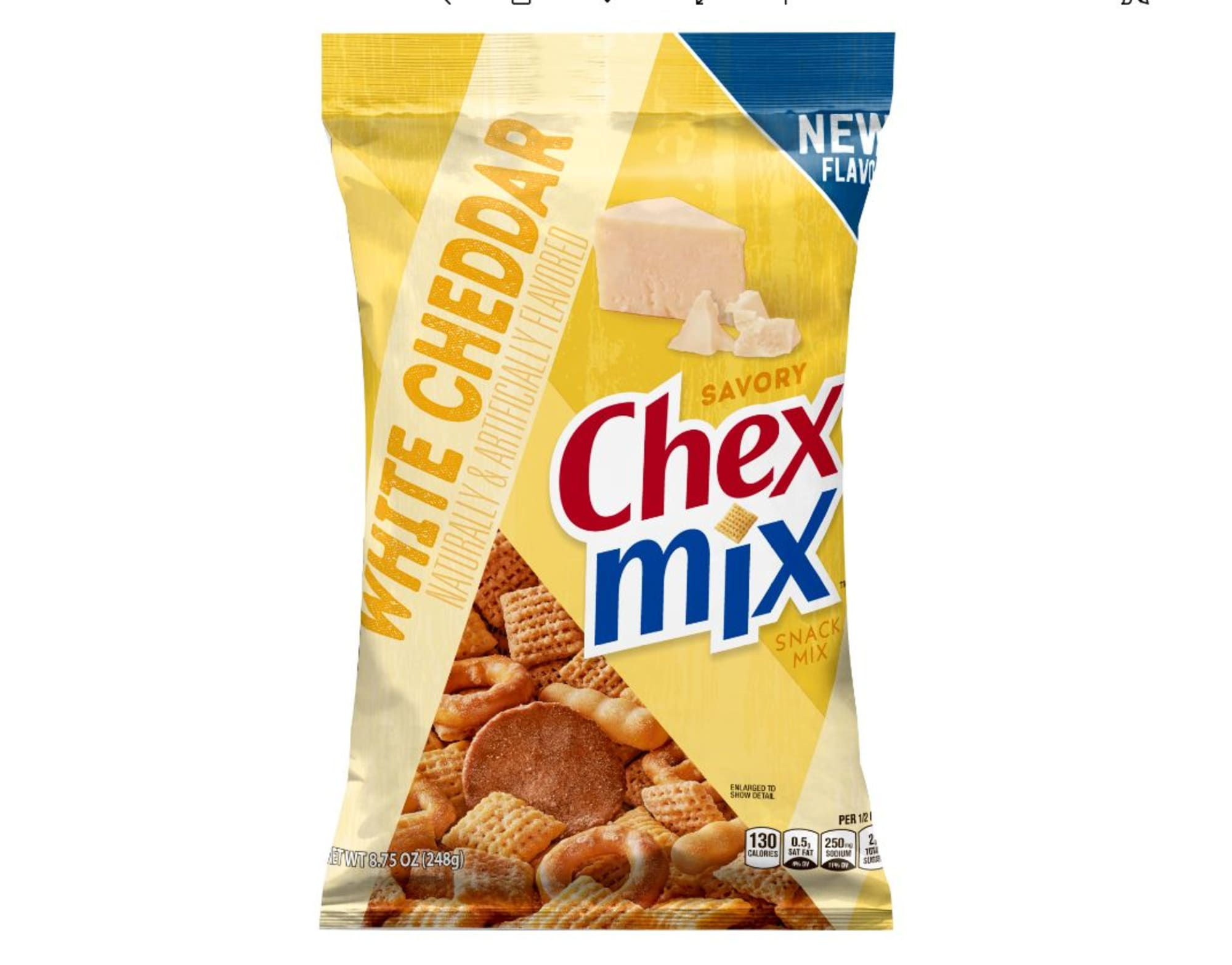 This new Chex Mix flavor is all about the cheesy goodness