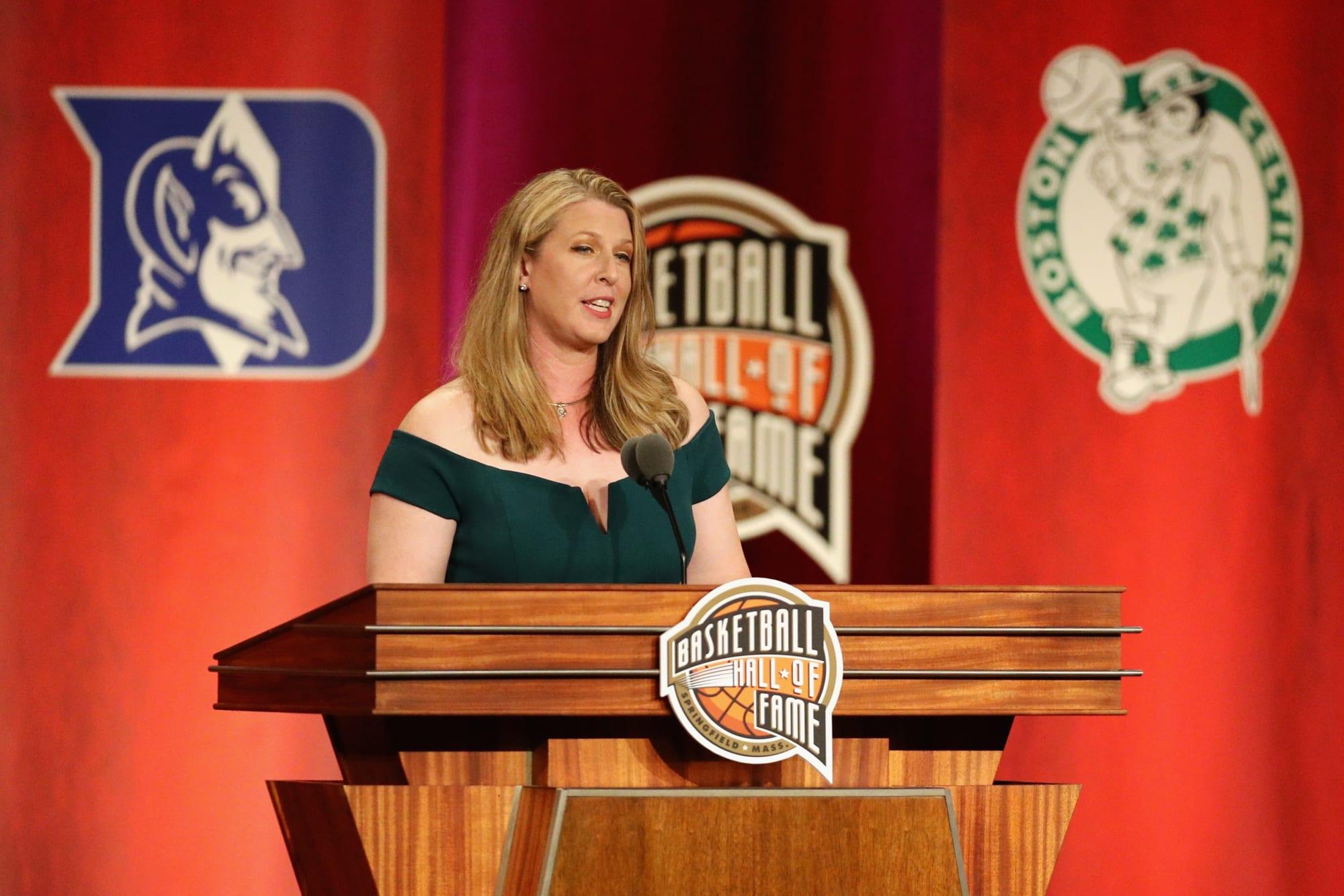 Katie Smith distributes sports equipment to Columbus families