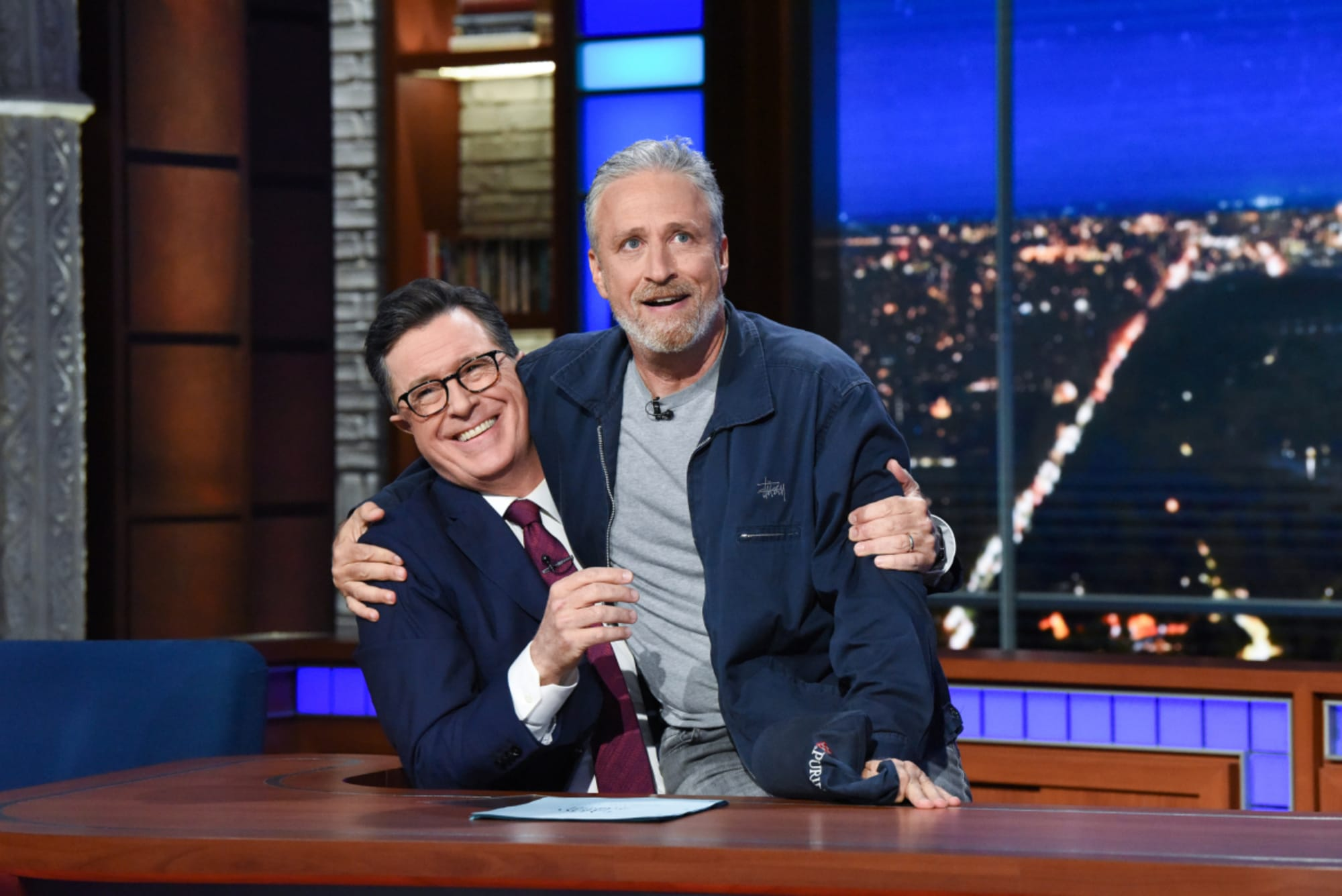 Stewart and Colbert cover image