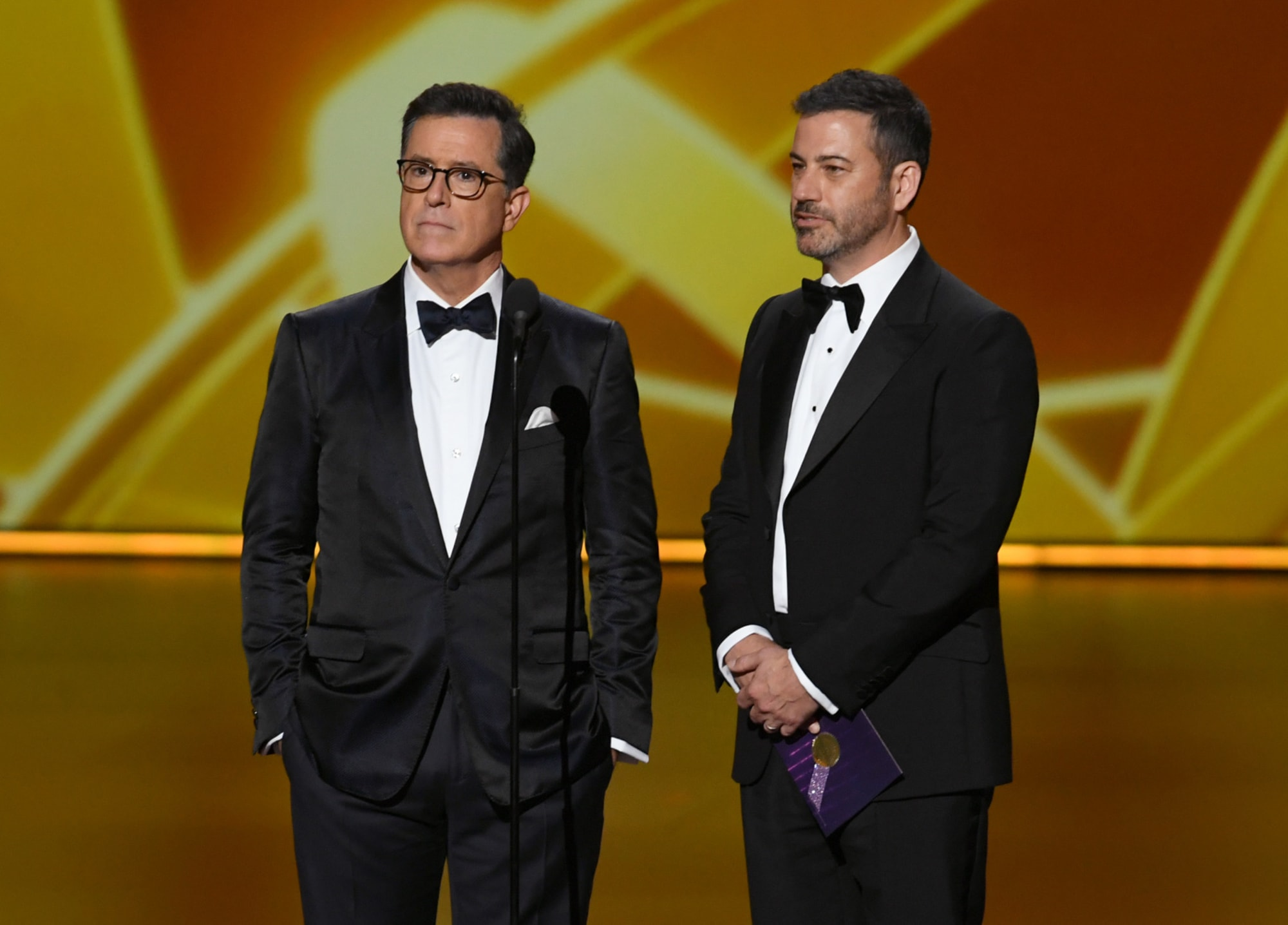 Late Night Stars Fallon Colbert And Kimmel To Host Charity Event One time, in 2017, he donned a wig, fake beard, and false gap in his teeth to host the show in character as david letterman. late night stars fallon colbert and