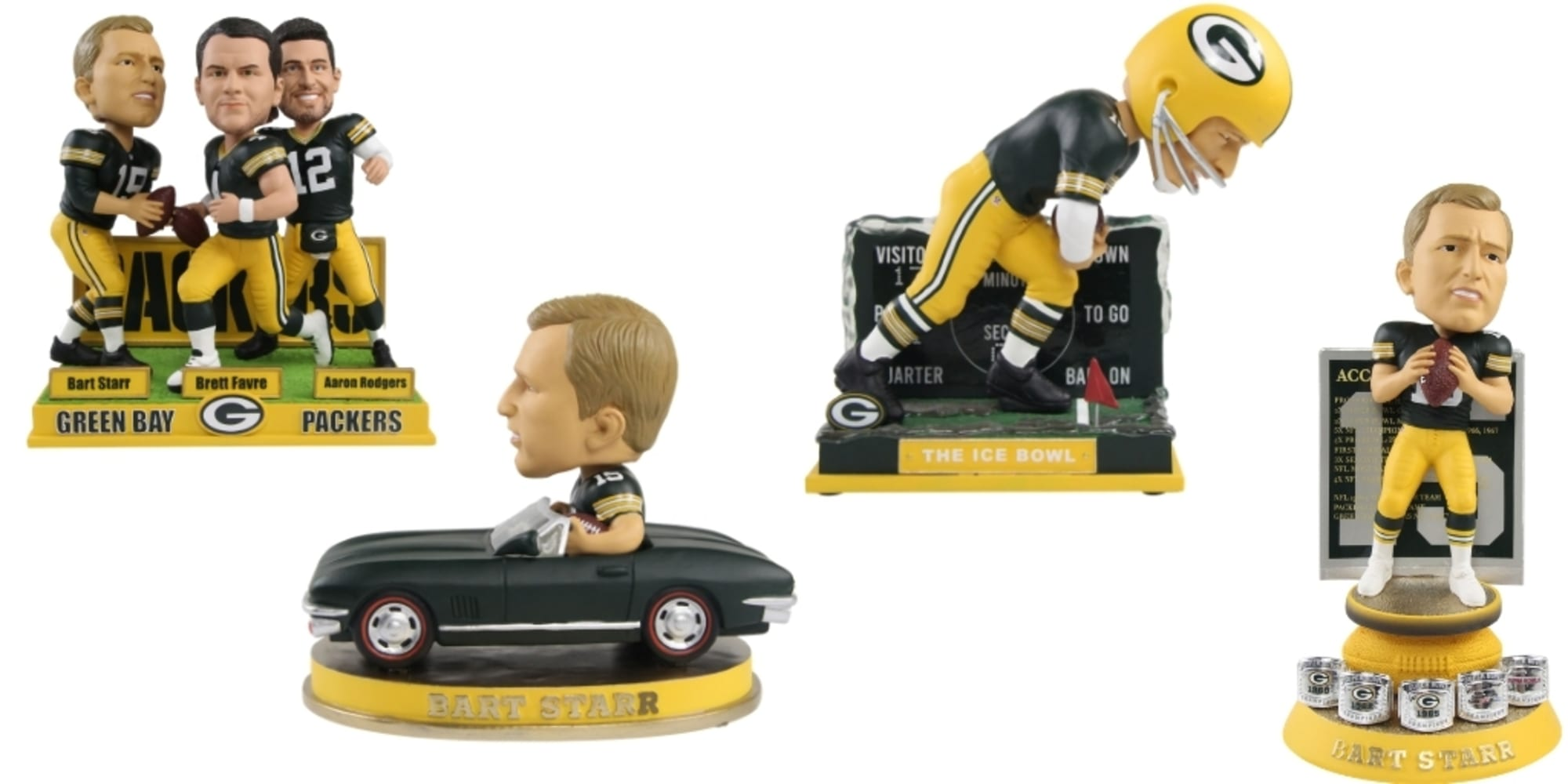 Green Bay Packers fans need to check out this Bart Starr bobblehead collection