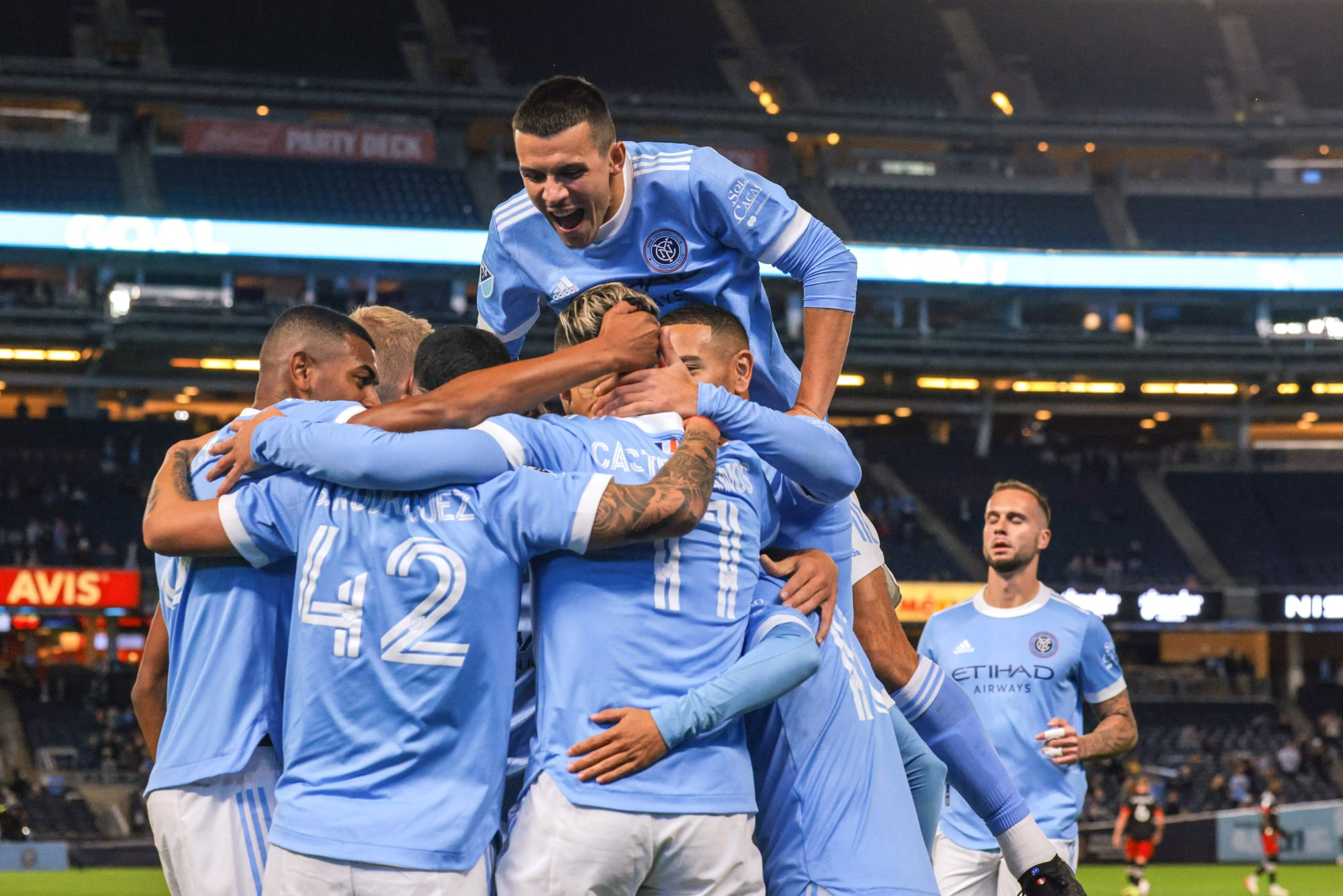 New York City FC scores six in club record-breaking win
