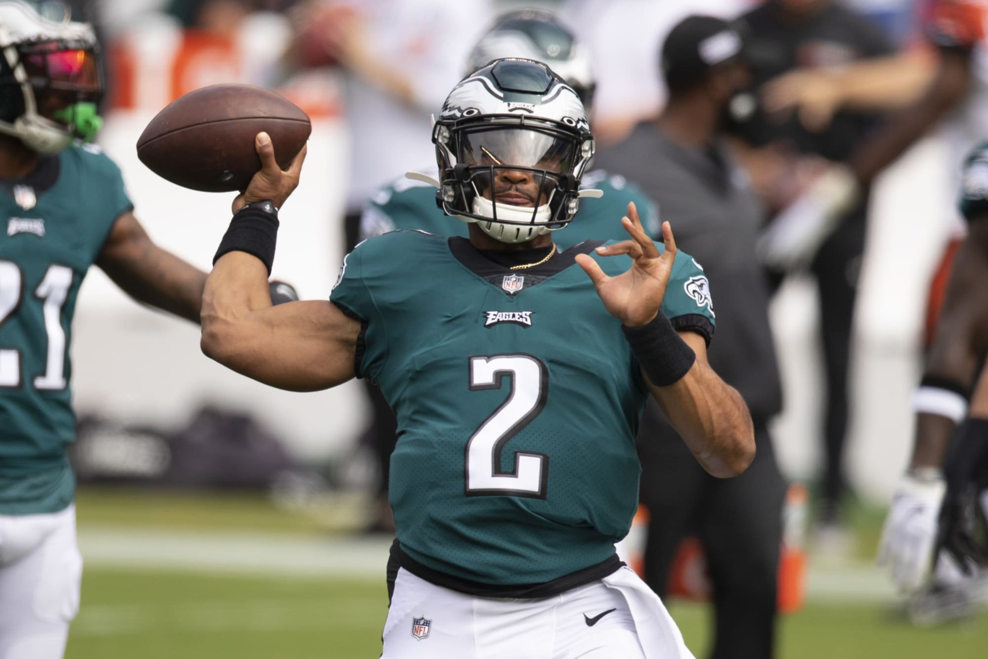 Jalen Hurts might be making Carson Wentz's seat hot with Eagles