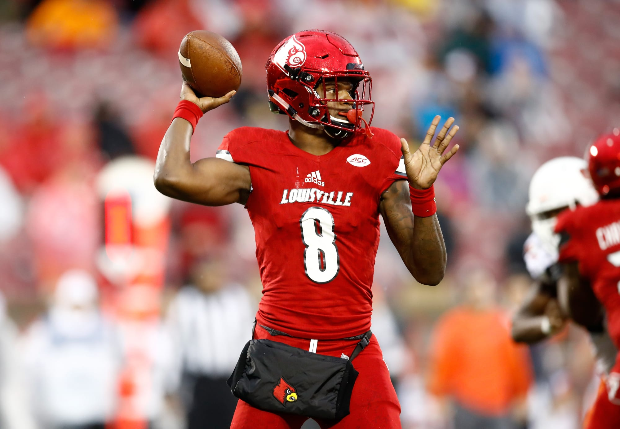 2018 Nfl Draft Louisville Qb Lamar Jackson Penalized For Fight